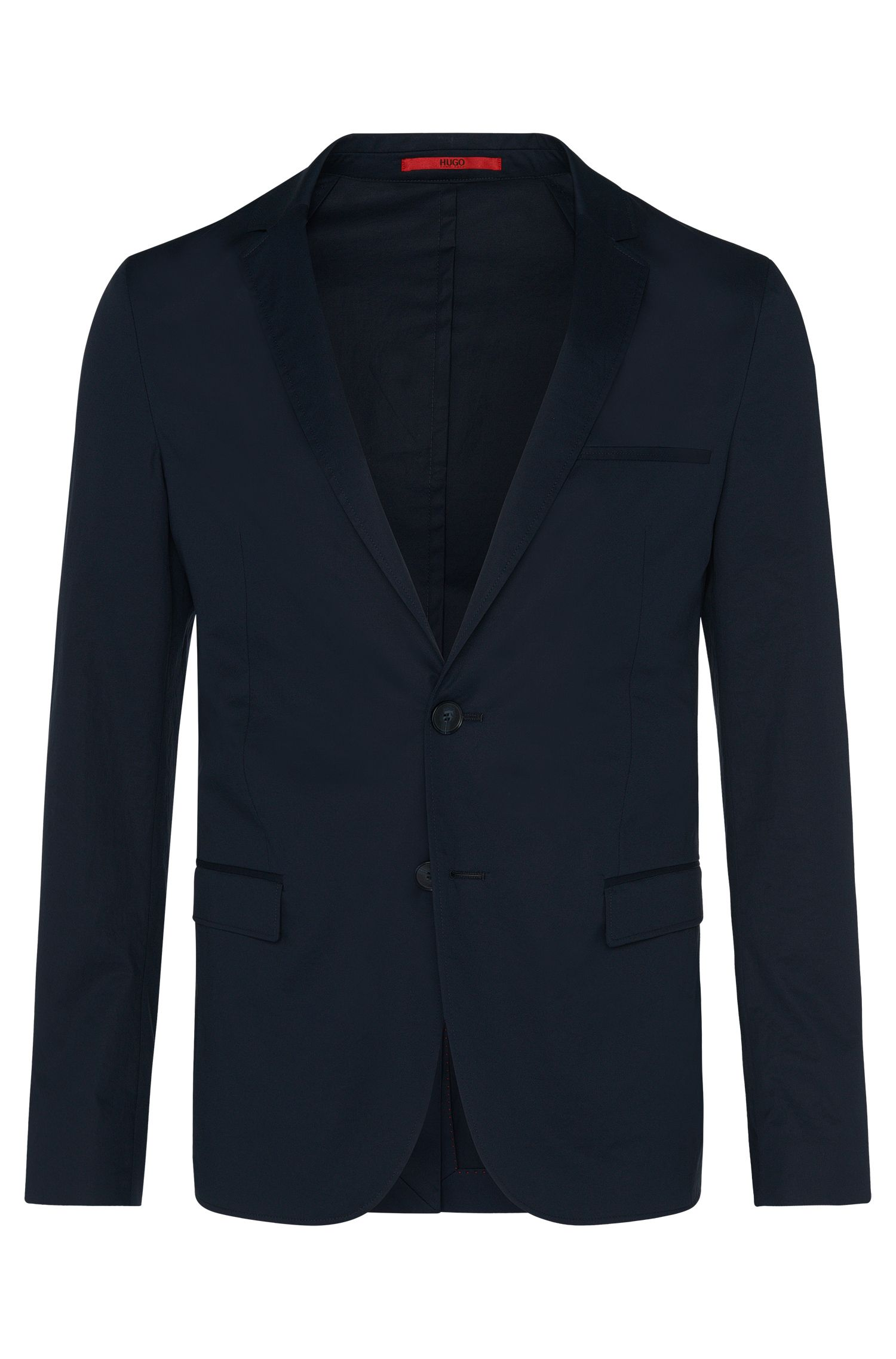 Slim-fit tailored jacket in stretch cotton: 'Anfred'