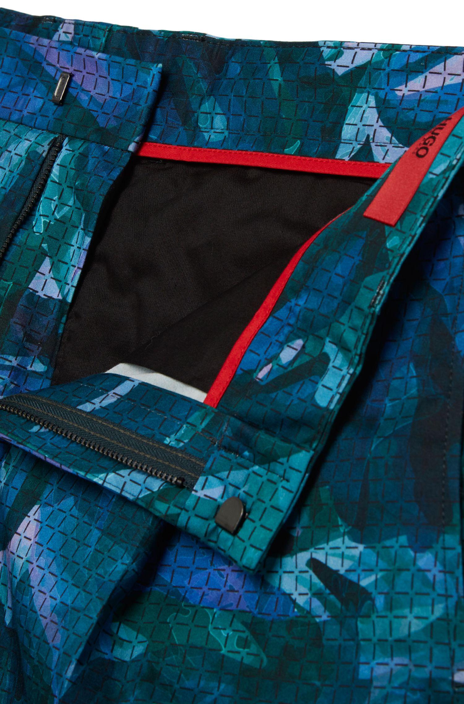 Short Relaxed Fit en coton extensible, à motif: «Himon»