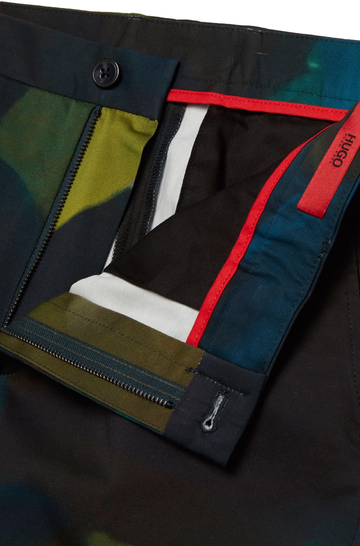 Pantalon Slim Fit à motif, en coton stretch: «Heldor2»