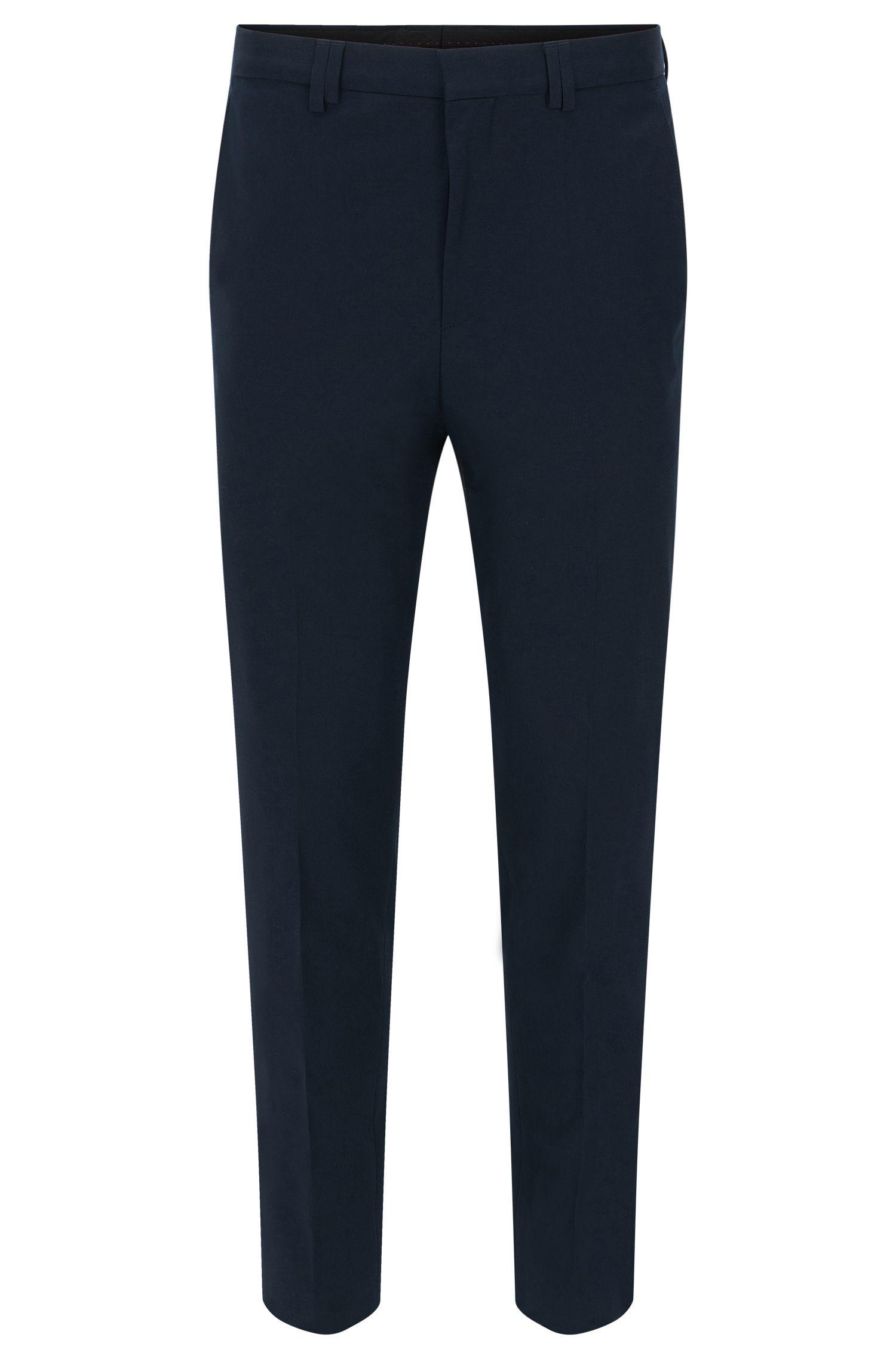 Unifarbene Slim-Fit Hose aus Stretch-Baumwolle: 'Herin'