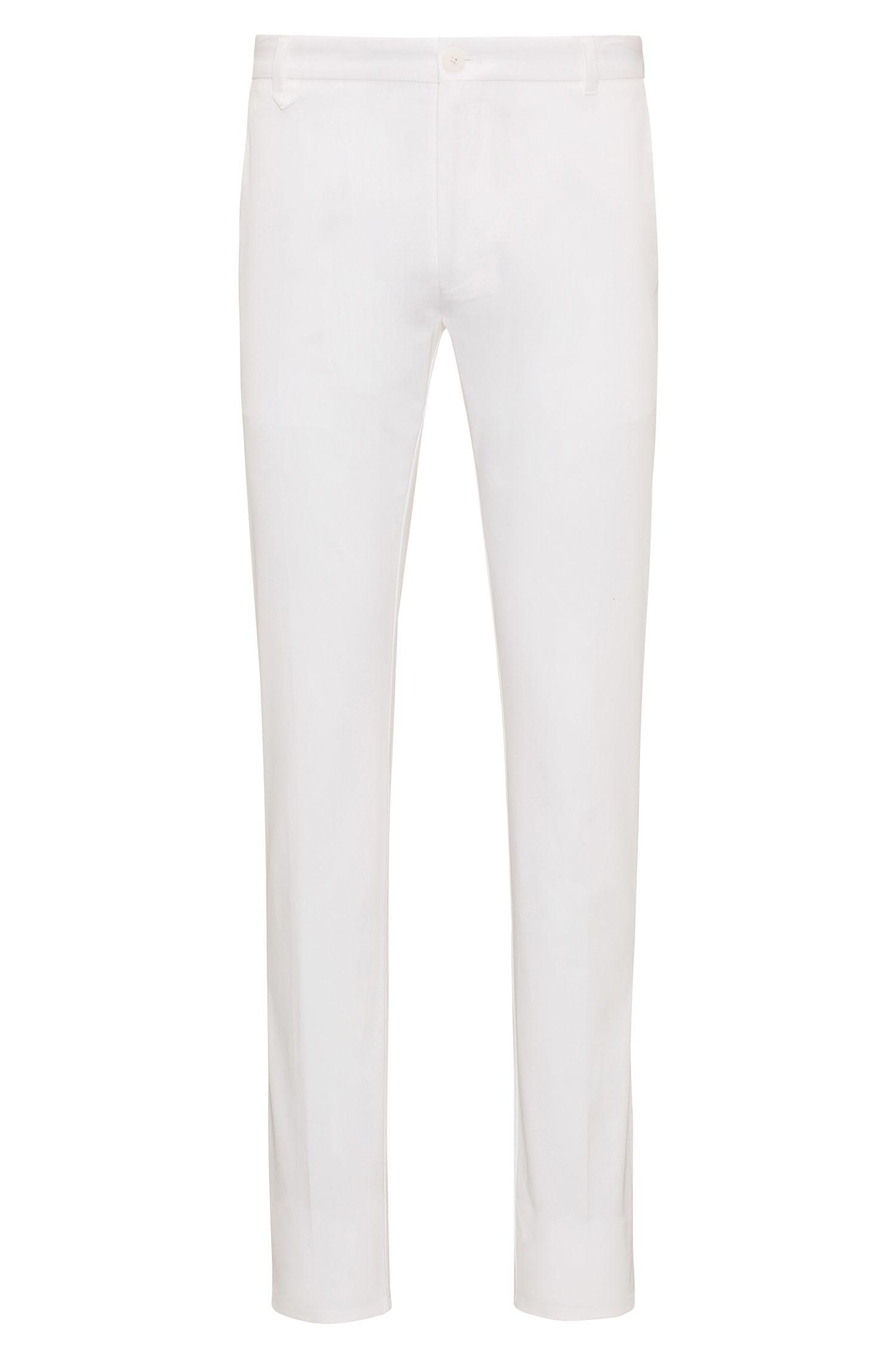 Pantalón liso slim fit en algodón elástico: 'Heldor2'