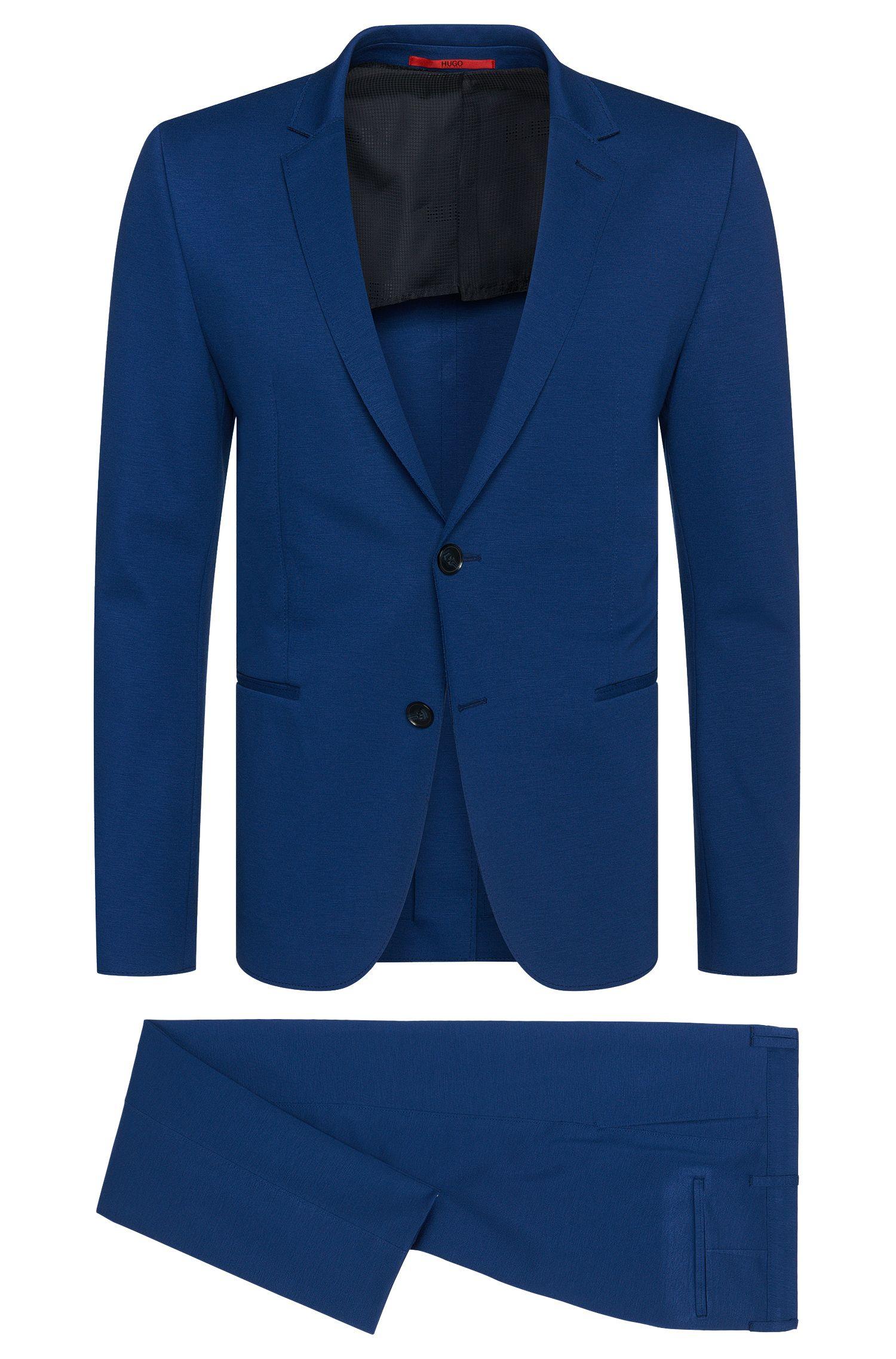Slim-Fit Anzug aus elastischem Viskose-Mix mit offenen Säumen: 'Arsey1/Hyns1'