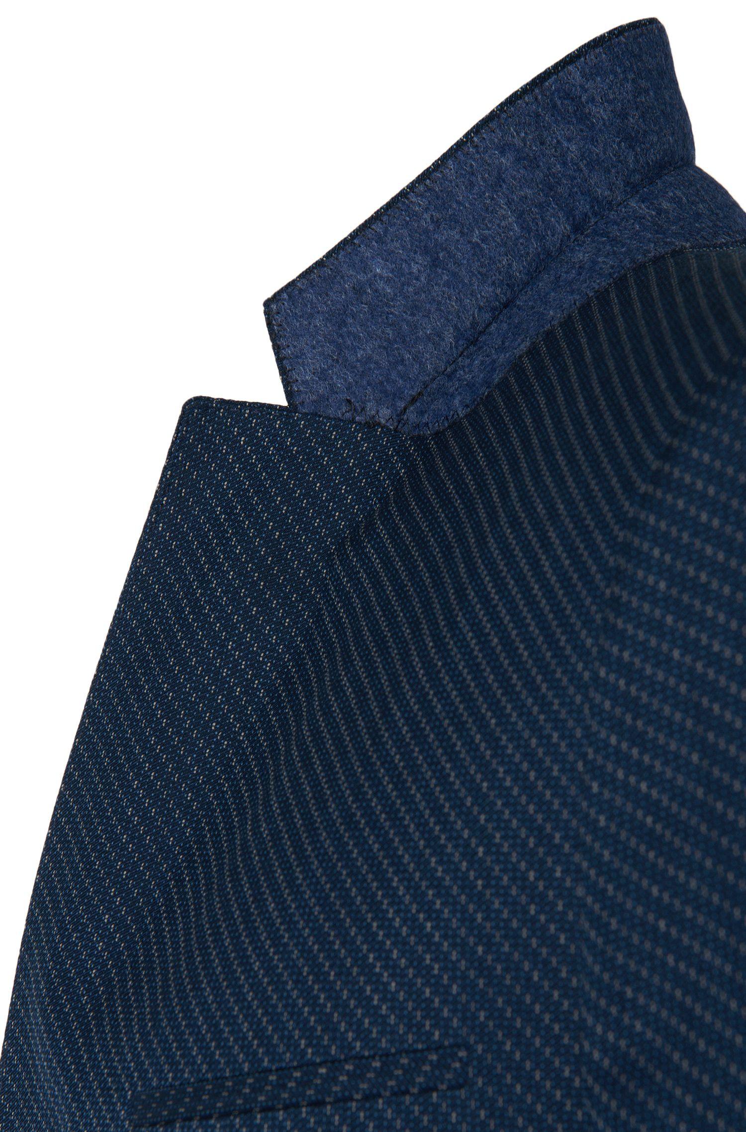 Costume Slim Fit à motif en laine vierge mélangée à teneur en coton: «Arti/Heilon»