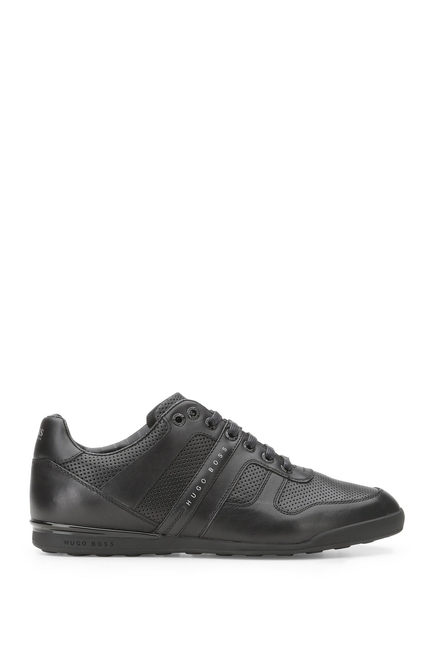 Low-top trainers in leather: 'Arkansas_Lowp_ltpf'