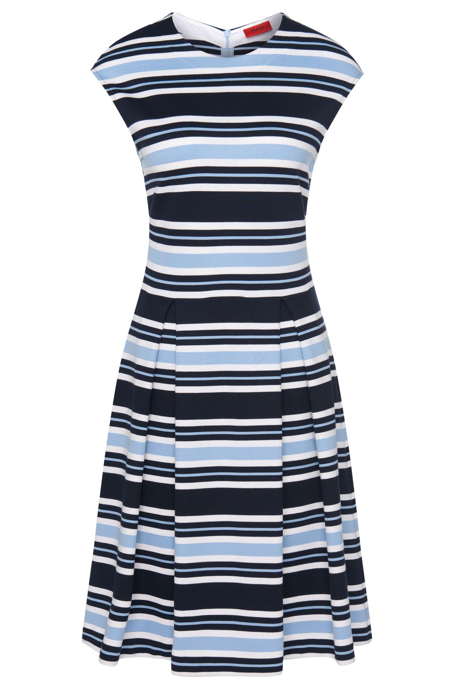Gestreiftes Kleid aus elastischem Viskose-Mix: 'Nalola'