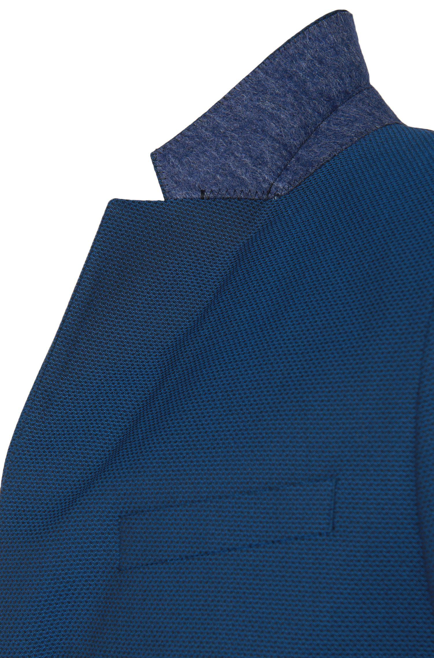 Slim-fit kostuum van een elastische katoenmix met dessin: 'Astian/Hets'