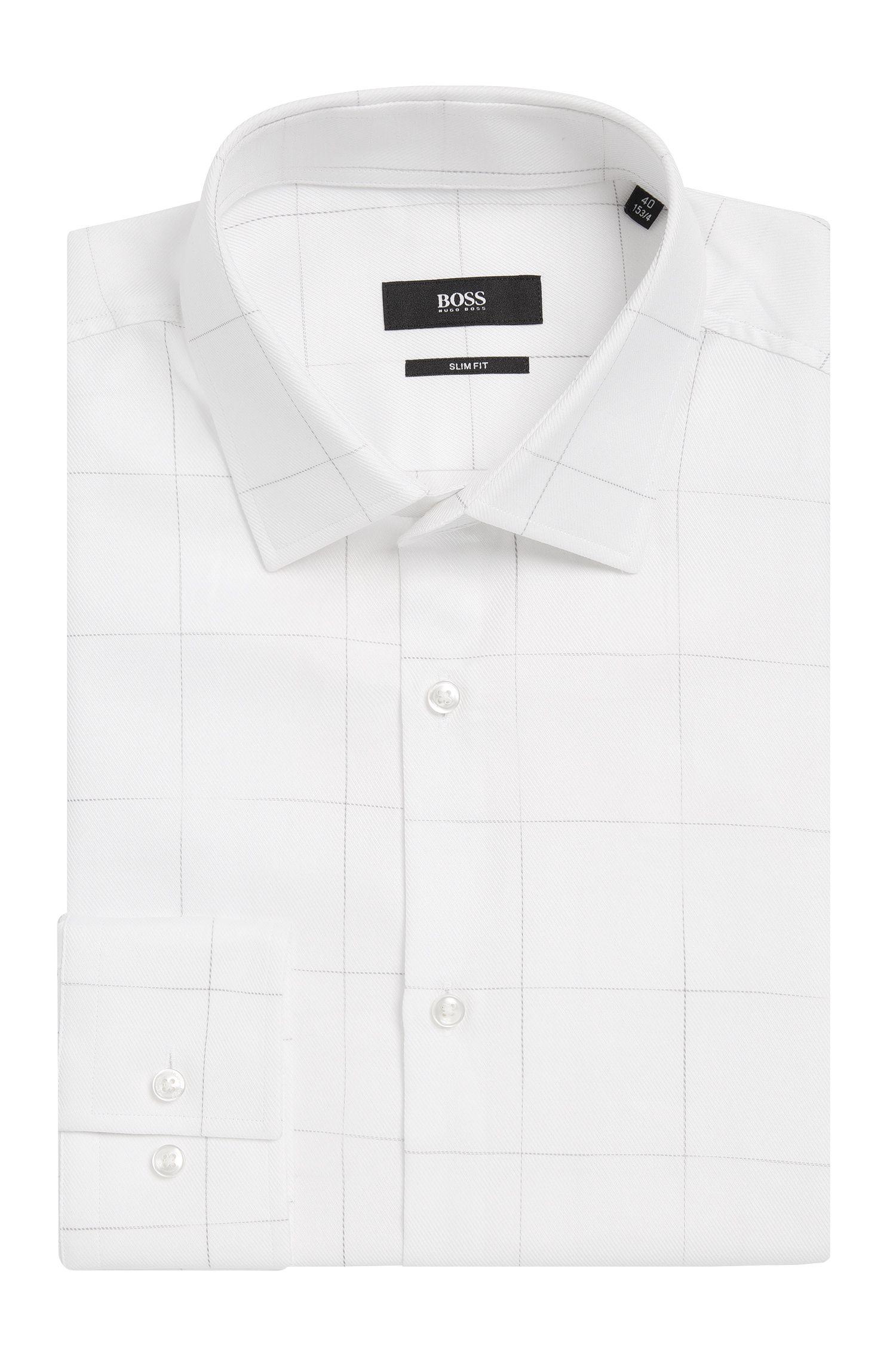 Chemise Slim Fit à carreaux en coton: «Jenno»