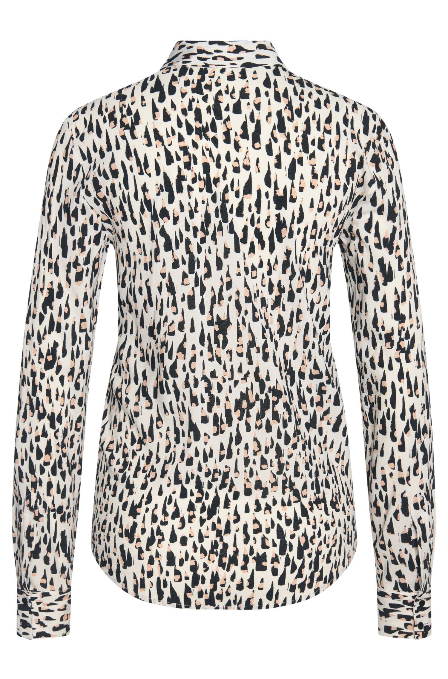 Gemusterte Bluse aus elastischer Viskose: 'Efesin'