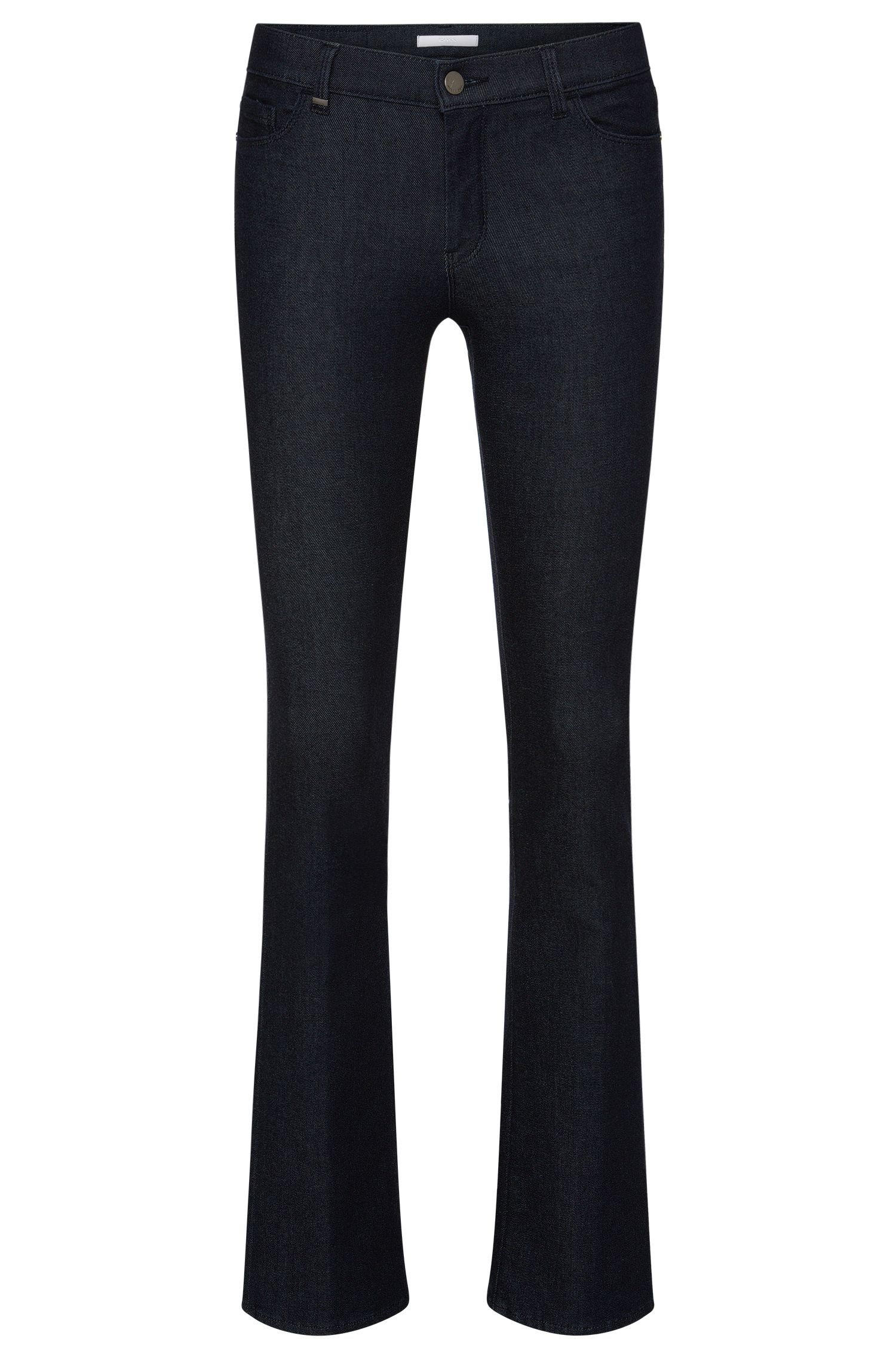 Regular-fit jeans in a stretchy cotton blend with flares: 'Niona'