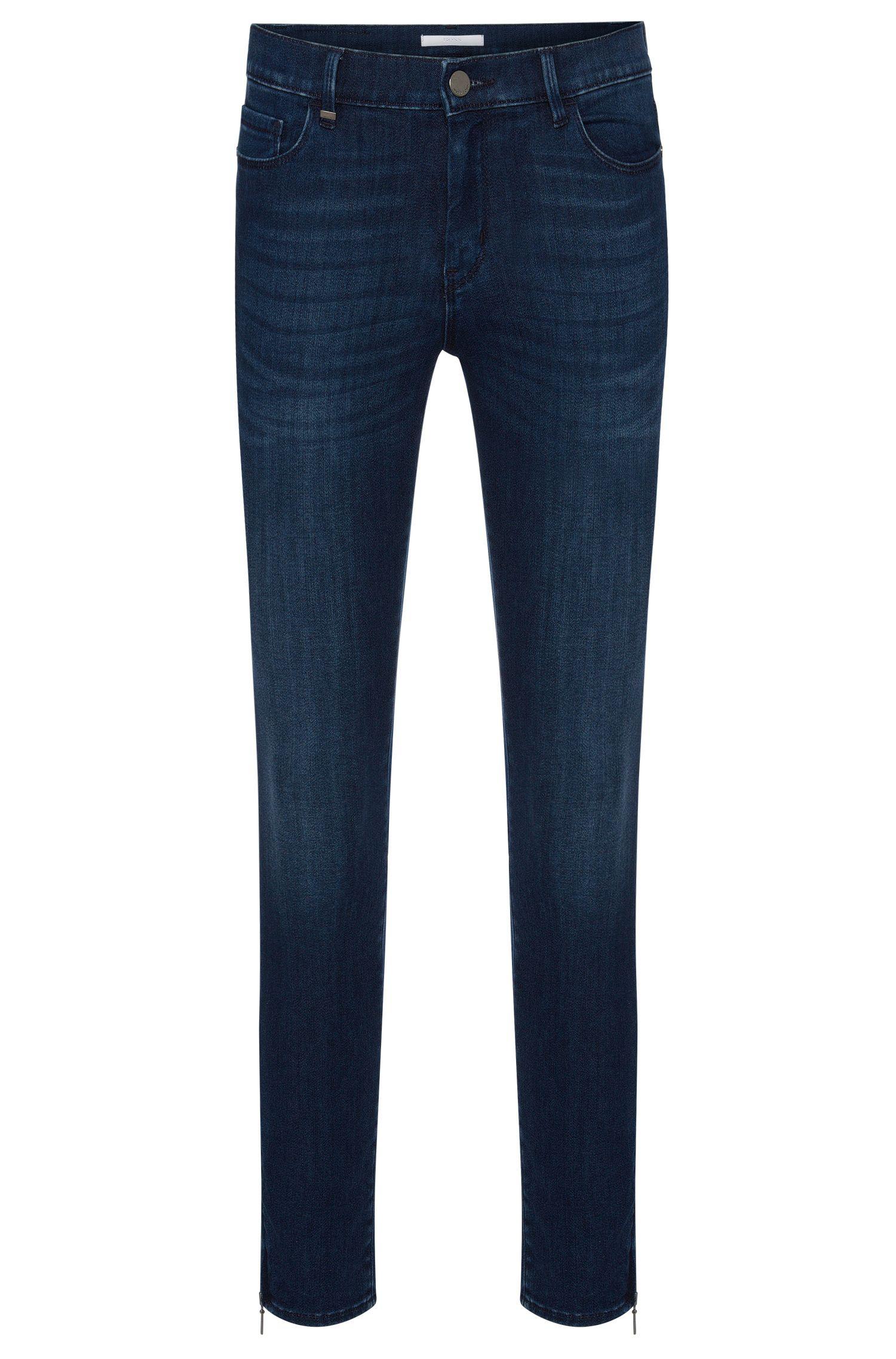 Slim-Fit Jeans aus elastischem Baumwoll-Mix mit Reißverschluss-Details: 'Nafice Zip'