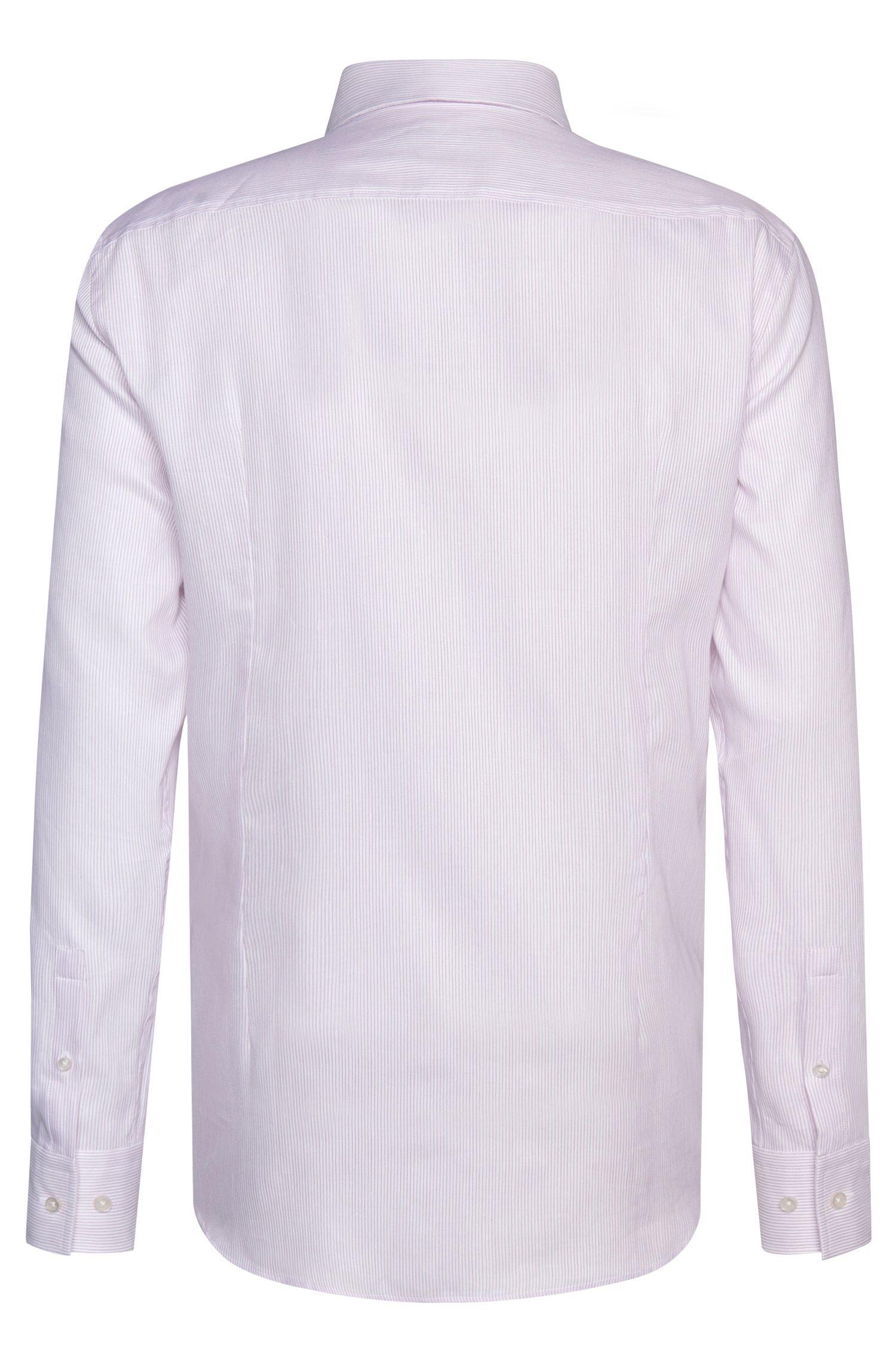 Gestreiftes Slim-Fit Hemd aus Baumwoll-Mix mit Leinen: 'Jenno'
