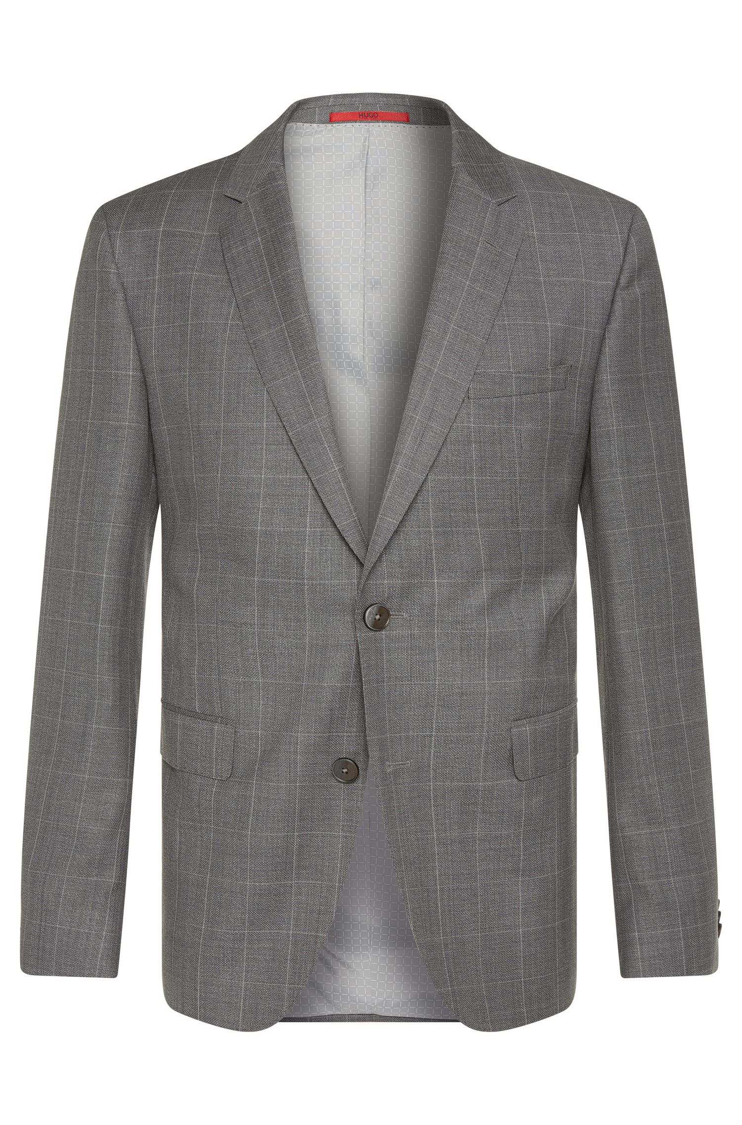 Finely checked regular-fit jacket in new wool: 'C-Jeys1'