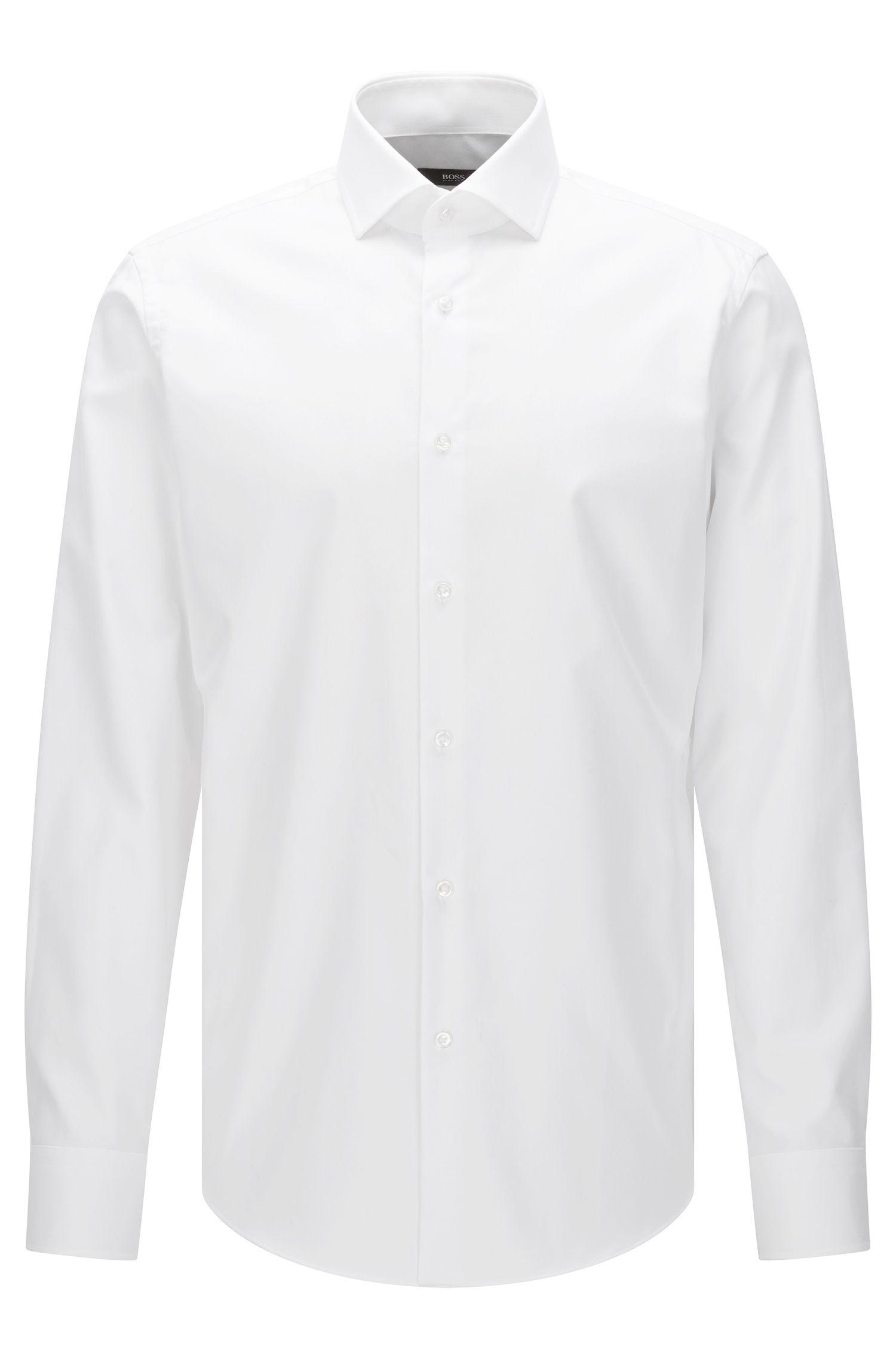 Regular-Fit Travel Line Hemd aus bügelleichter Baumwolle: 'Gordon'