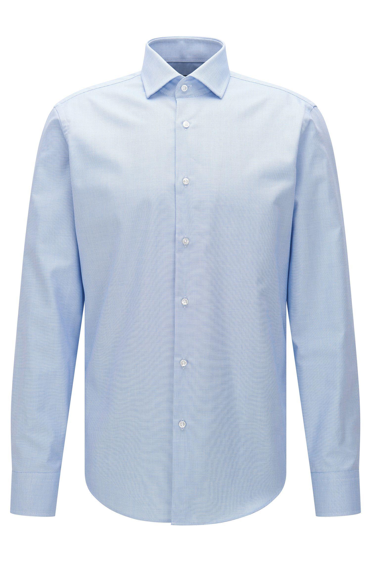 Regular-fit Travel Line shirt in easy-iron cotton: 'Gordon'