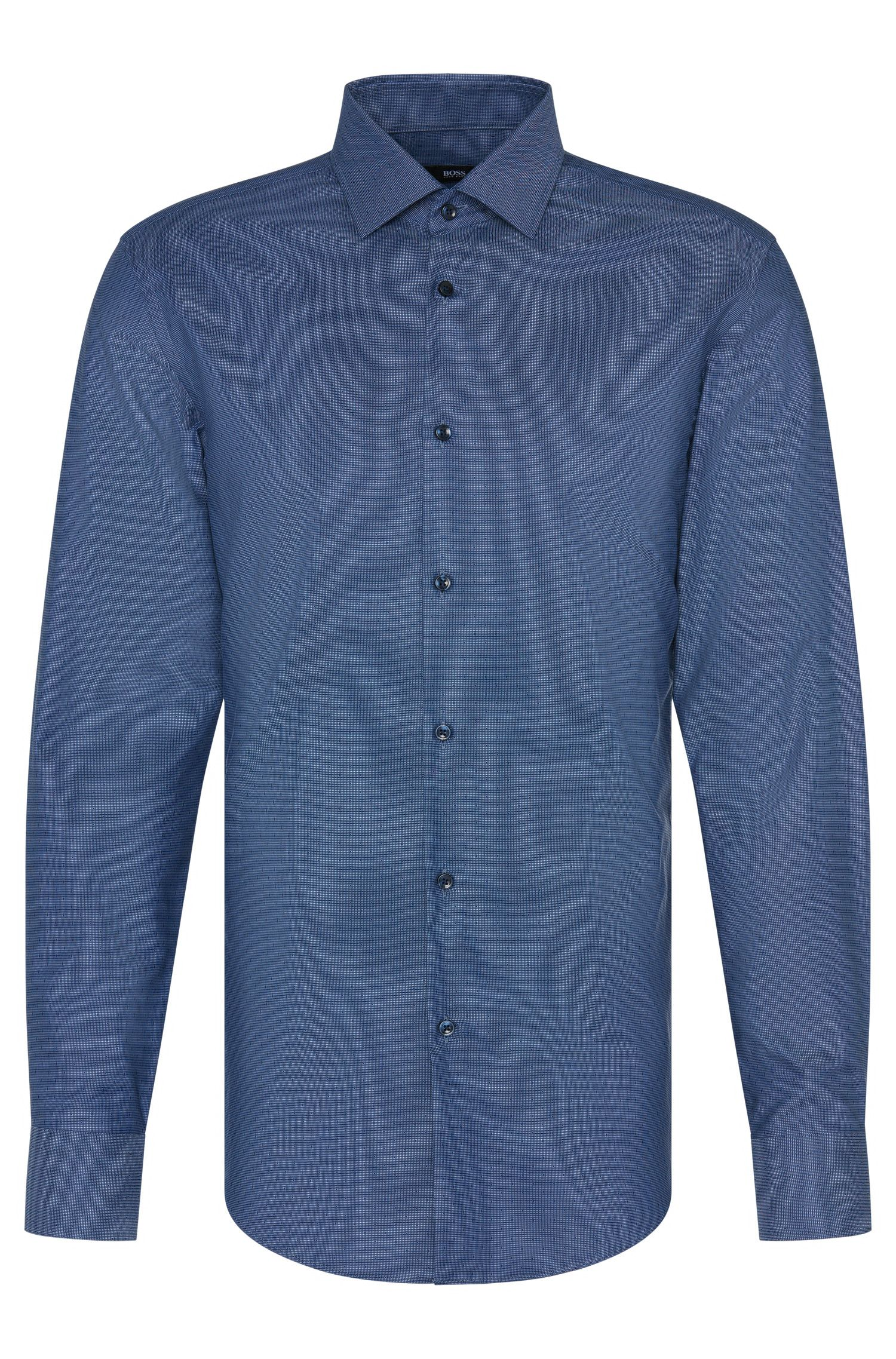 Chemise en coton Slim Fit Travel Line : « Jenno »