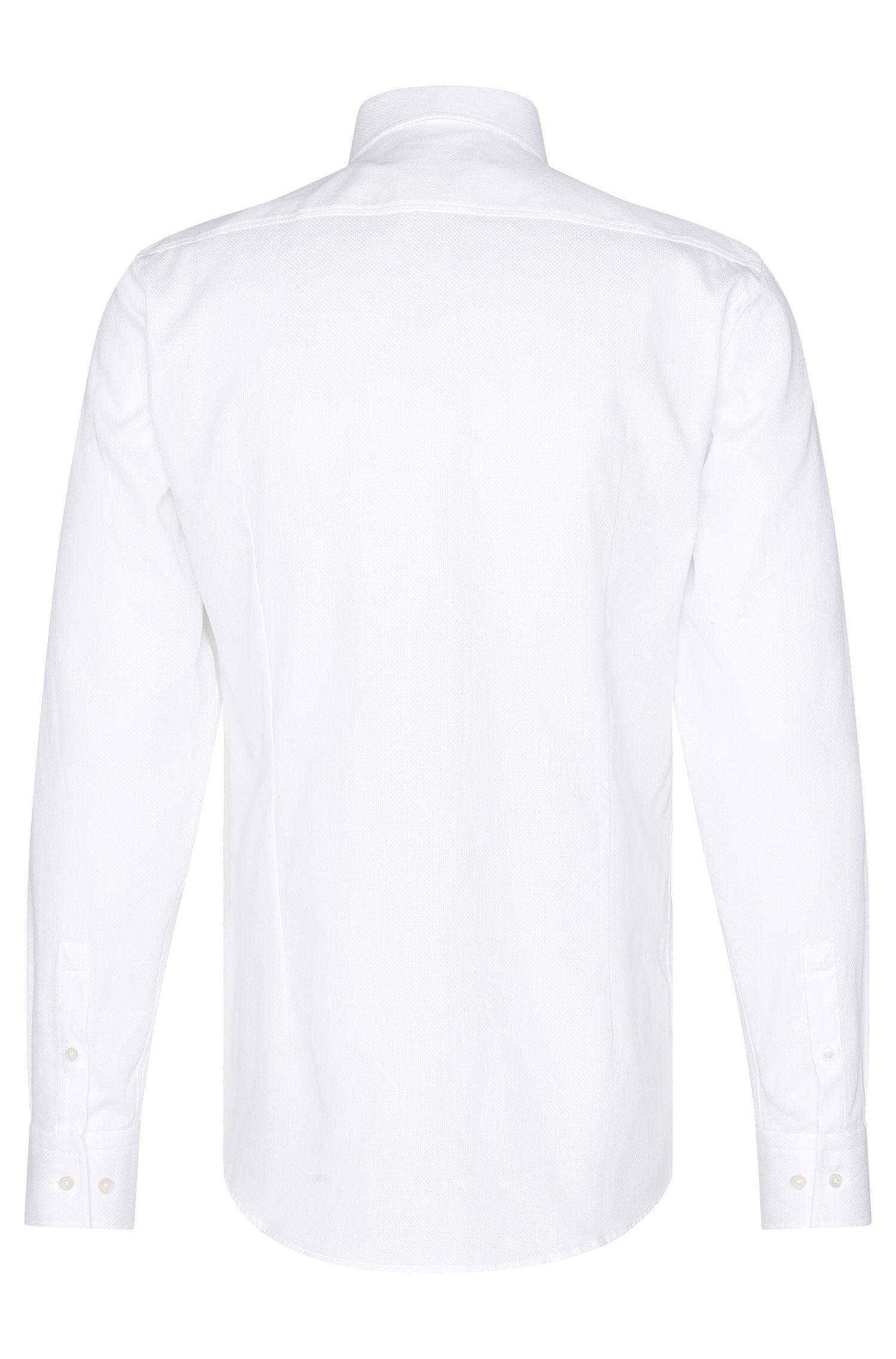 Fein strukturiertes Slim-Fit Hemd aus Baumwolle: 'Jenno'