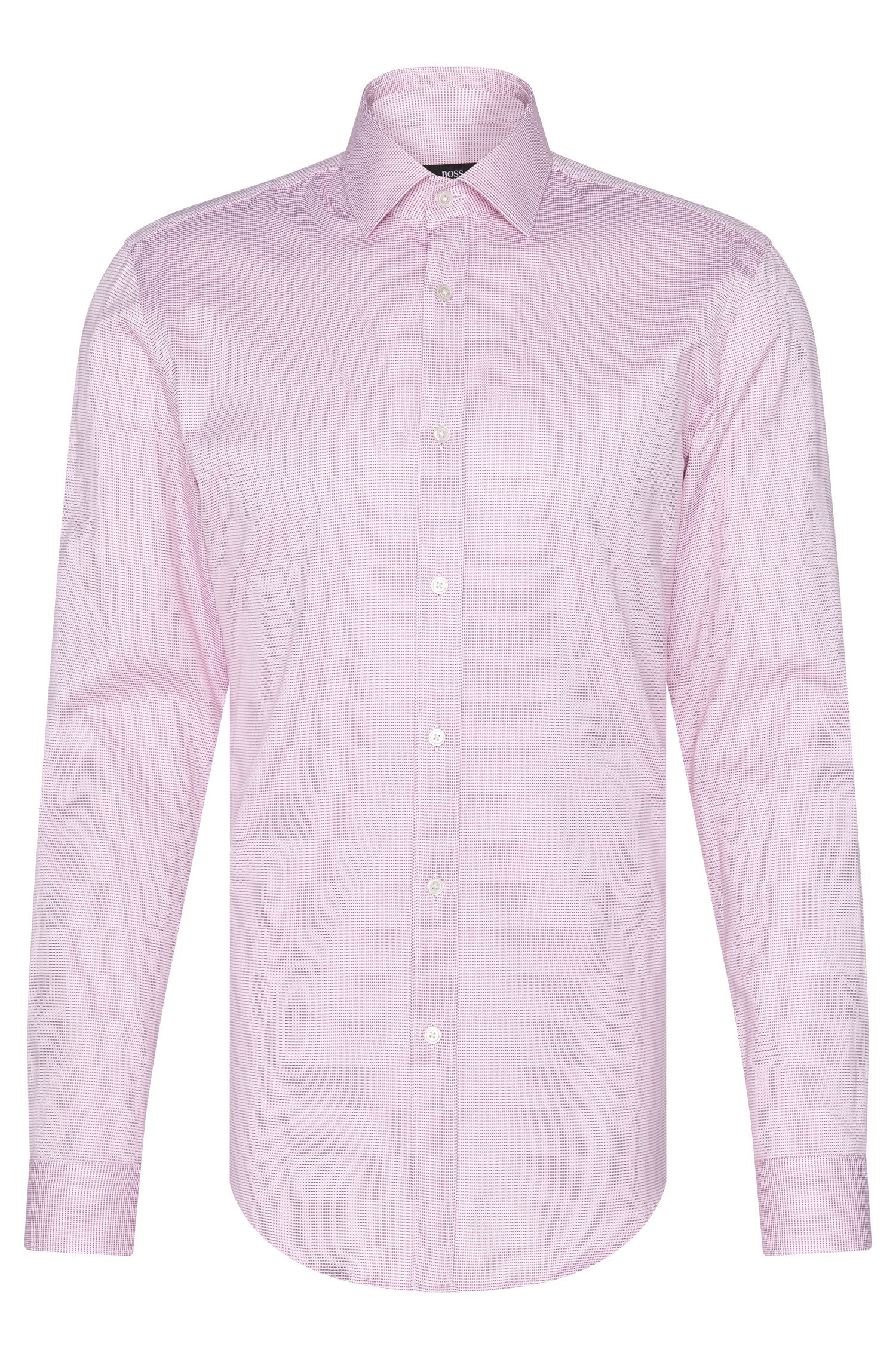 Patterned slim-fit shirt in cotton: 'Isaak'