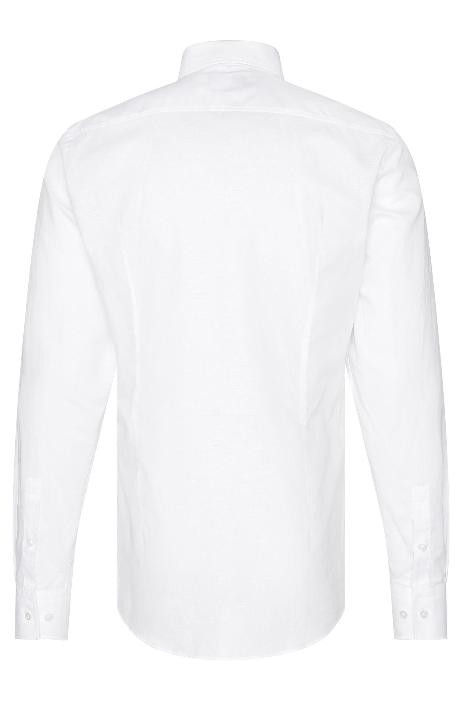 Slim-Fit Hemd aus Baumwoll-Mix mit Leinen: 'Jenno'