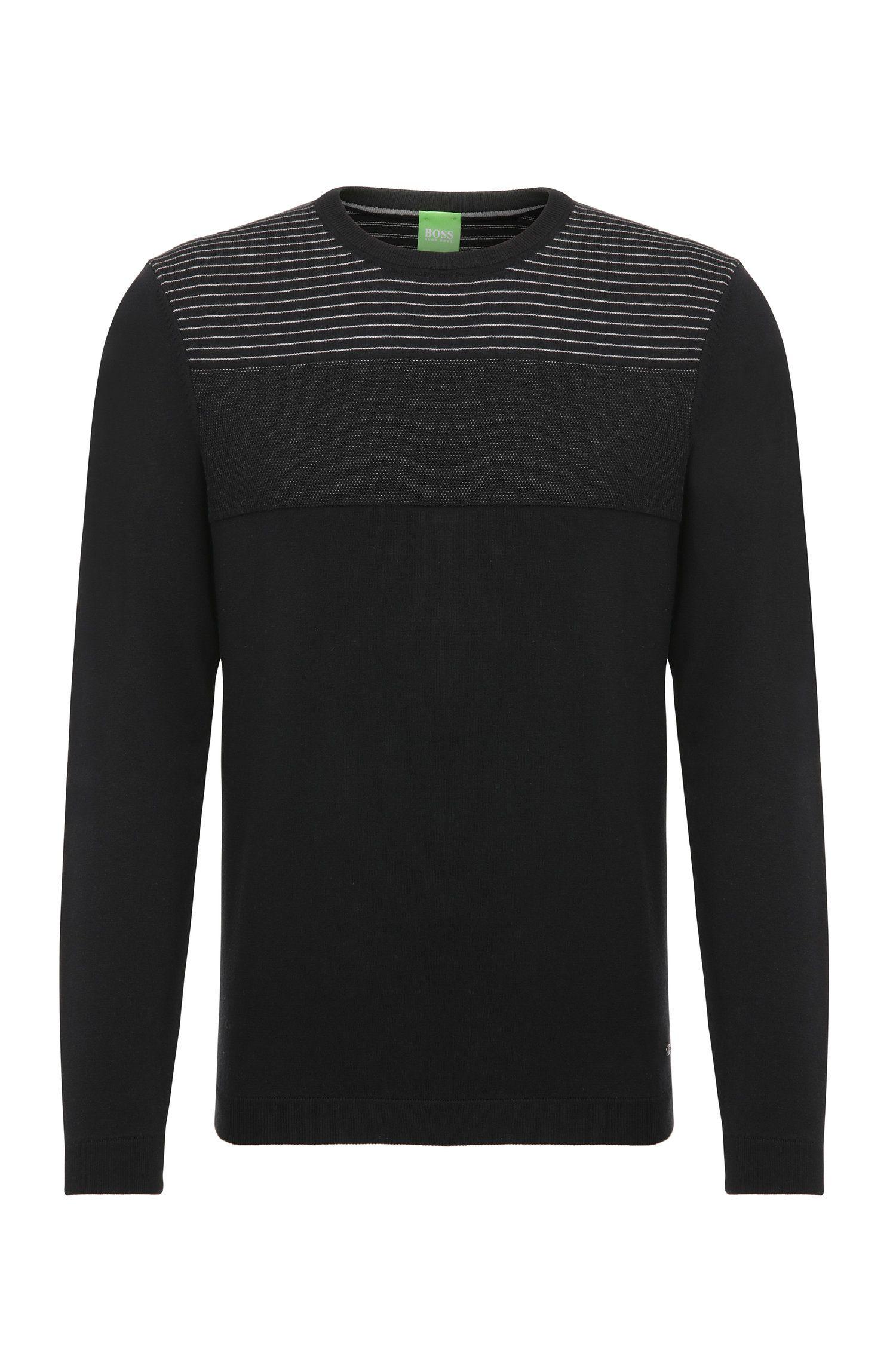 Pullover in maglia in misto cotone elasticizzato: 'Rung'