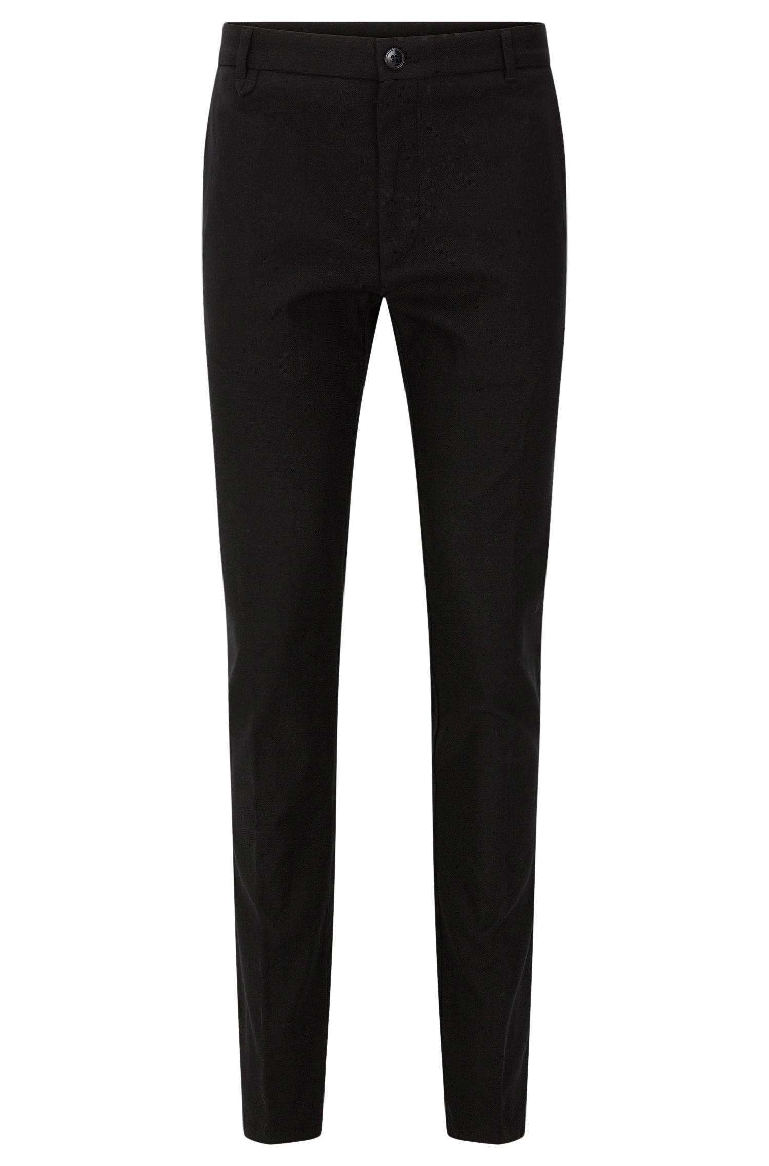 Pantalon Slim Fit en coton stretch structuré: «Heldor2»