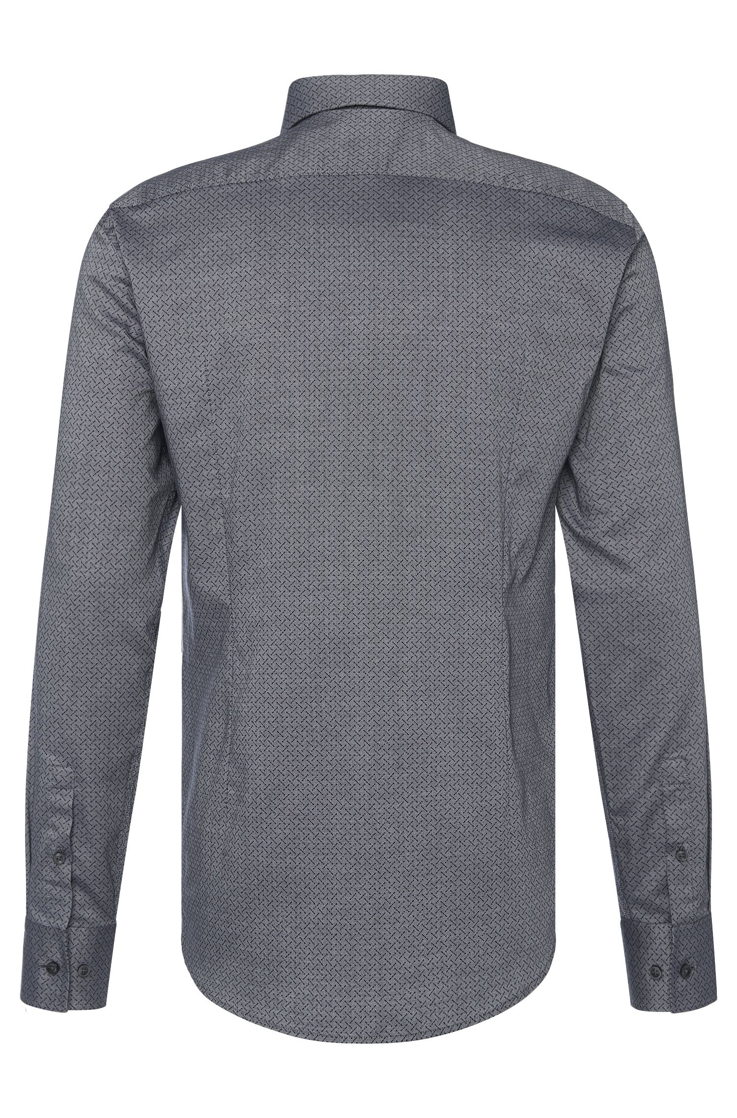 Gemustertes Slim-Fit Hemd aus Baumwolle: 'Jenno'