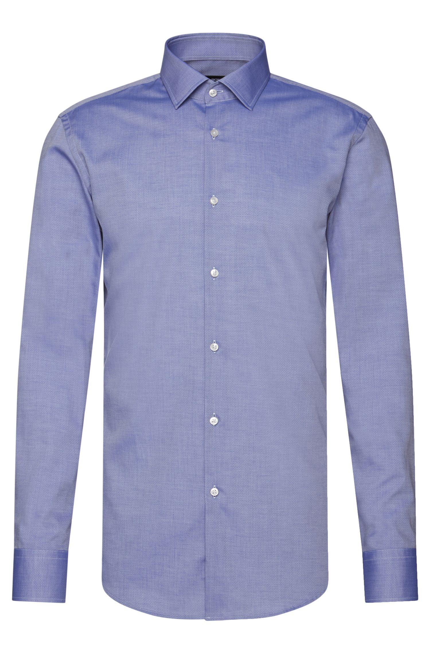 Slim-Fit Travel Line Hemd aus atmungsaktiver Baumwolle: 'Jenno'