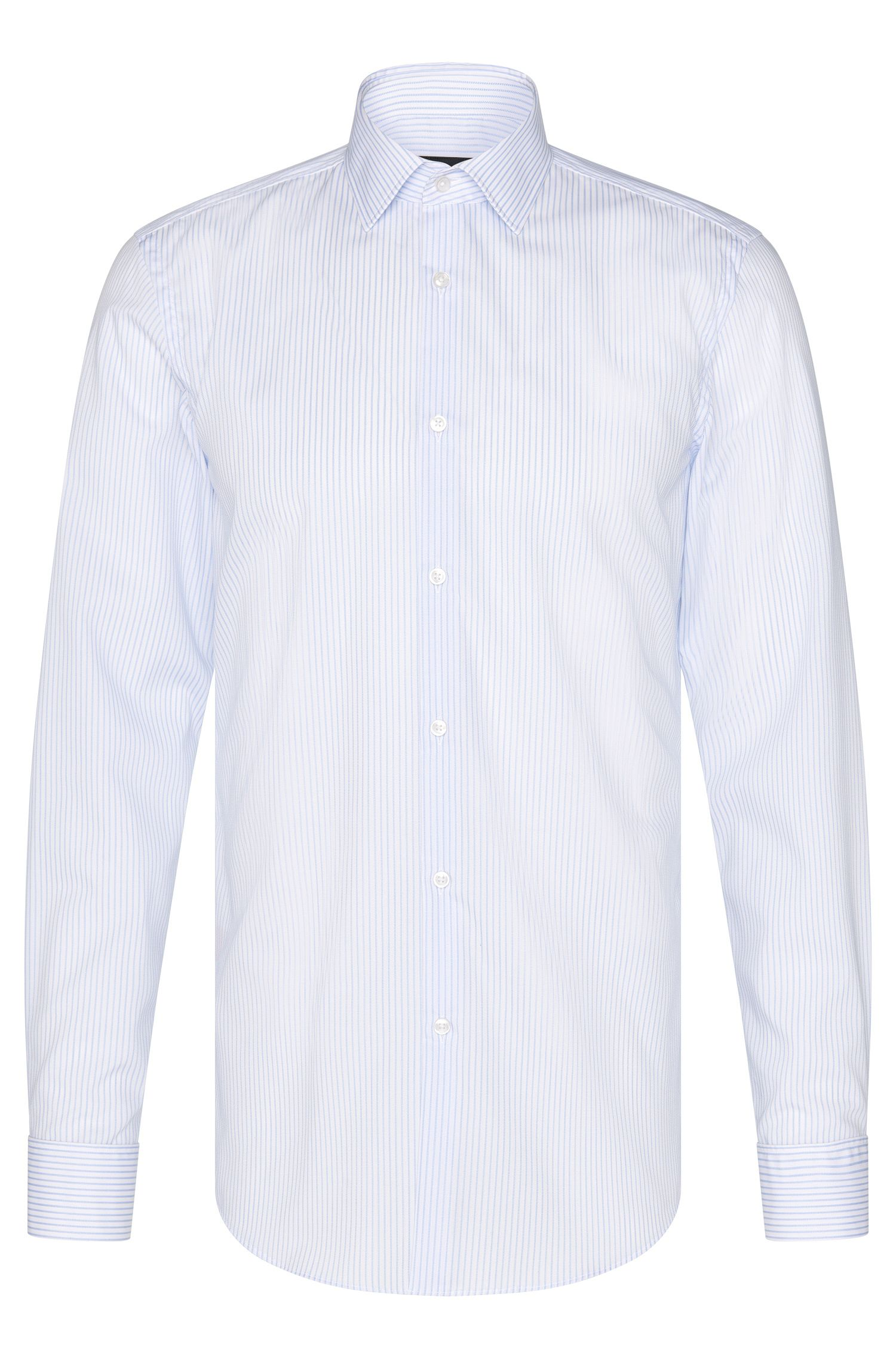 Chemise en coton Slim Fit Travel Line : « Jacques »
