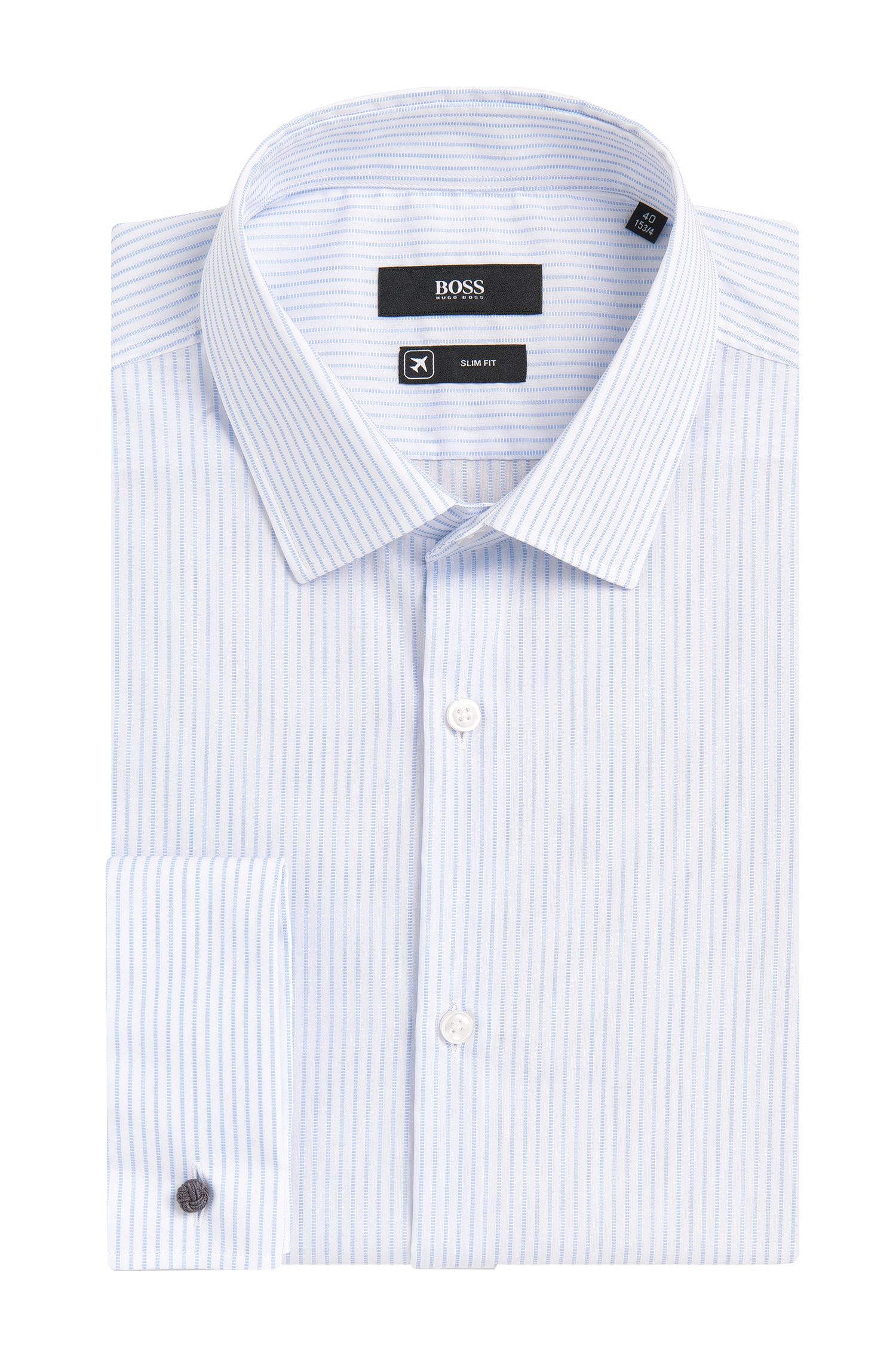 Slim-Fit Travel Line Hemd aus Baumwolle: 'Jacques'