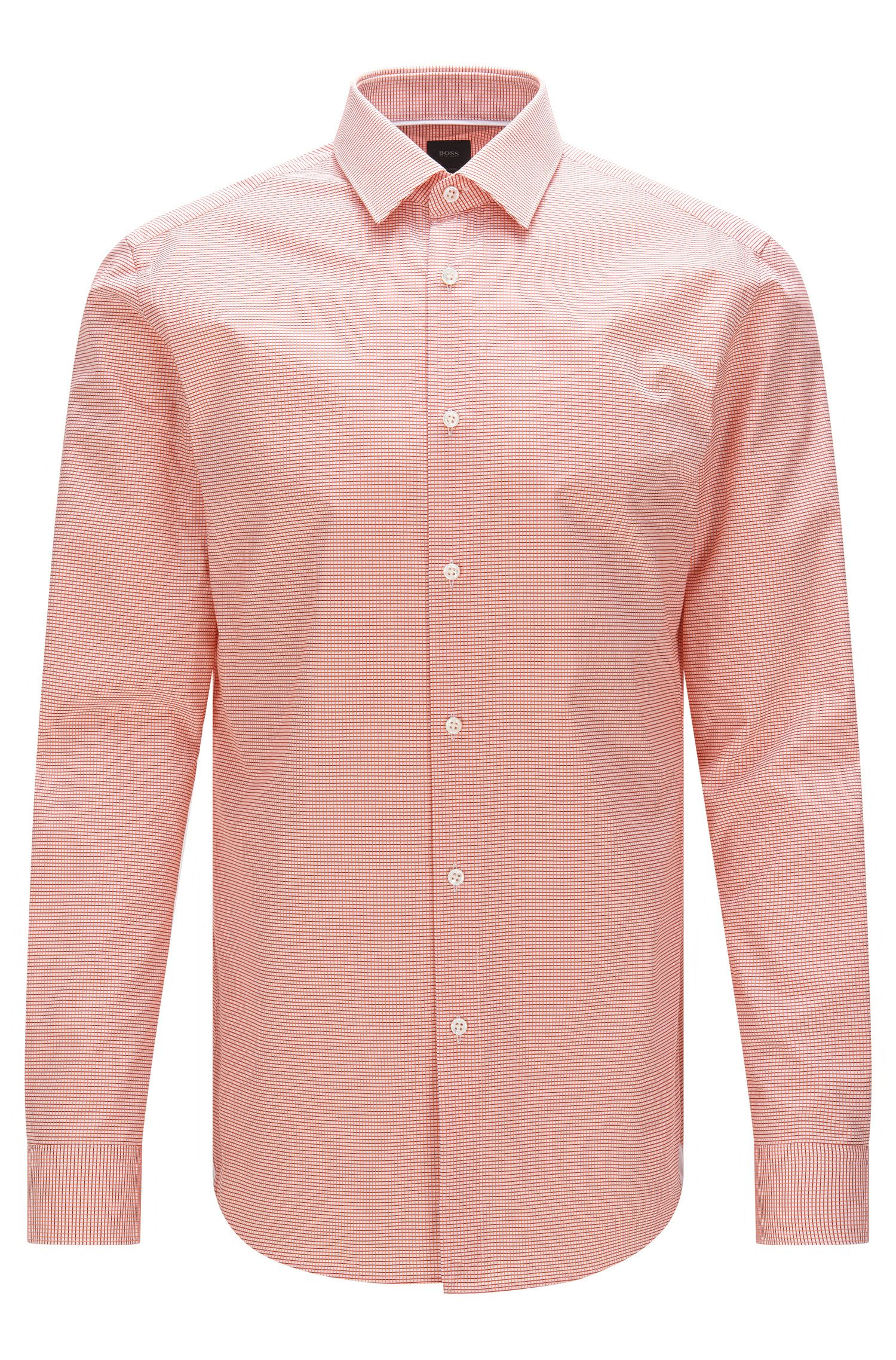 Slim-fit Tailored shirt in textured cotton: 'T-Scott'