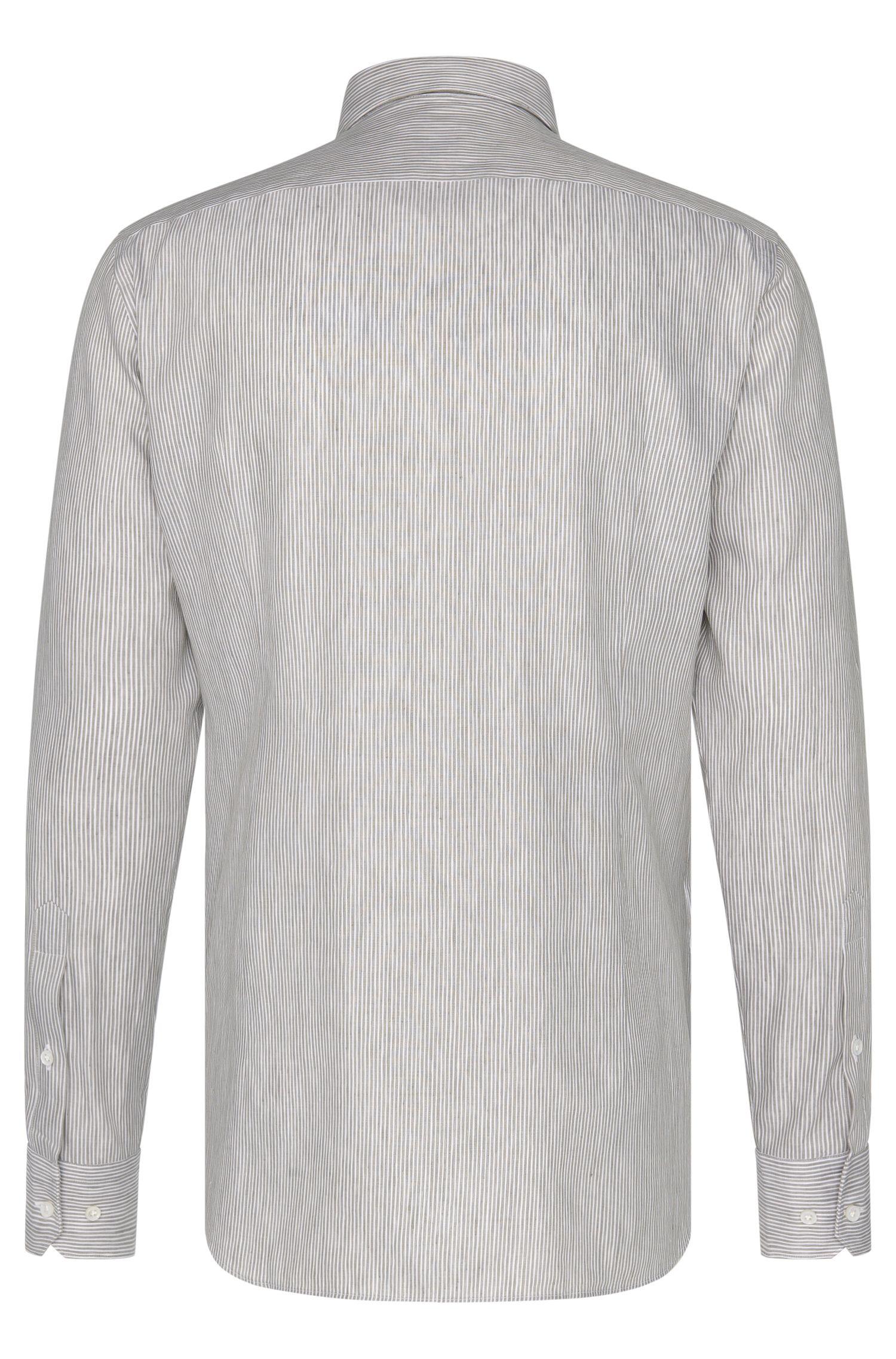 Slim-Fit Tailored Hemd aus Leinen-Mix mit Baumwolle: 'T-Clint'