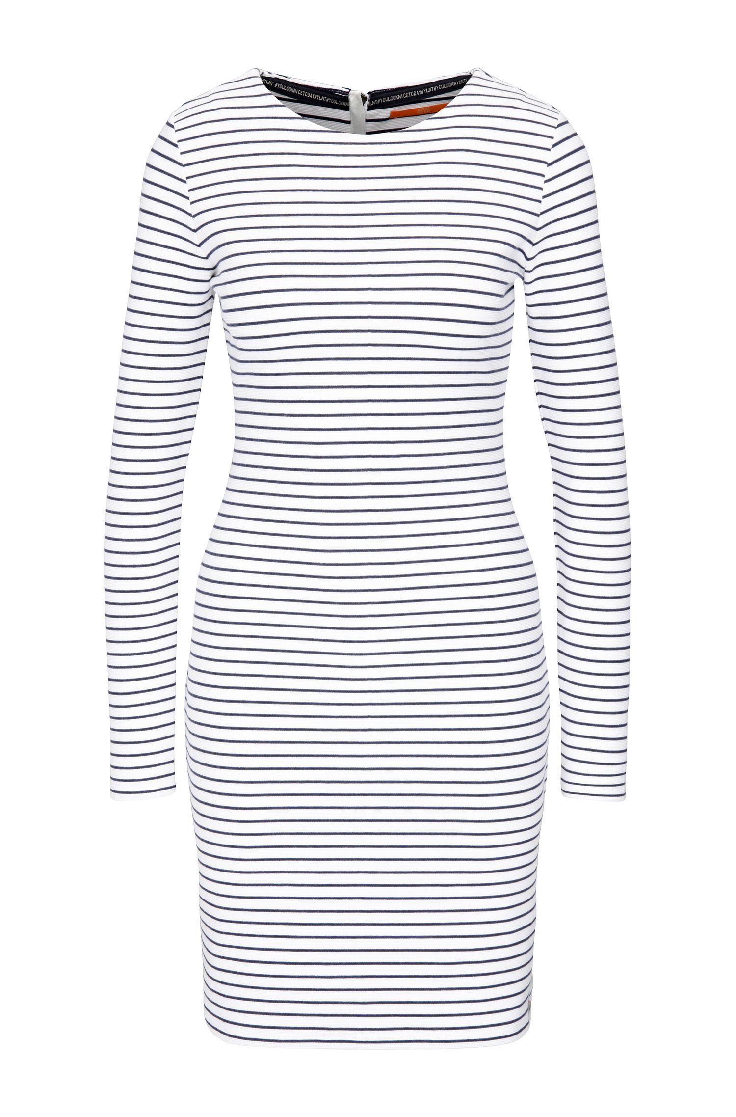 Gestreiftes Slim-Fit Jersey-Kleid aus Baumwoll-Mix mit Elasthan: ´Damarina`