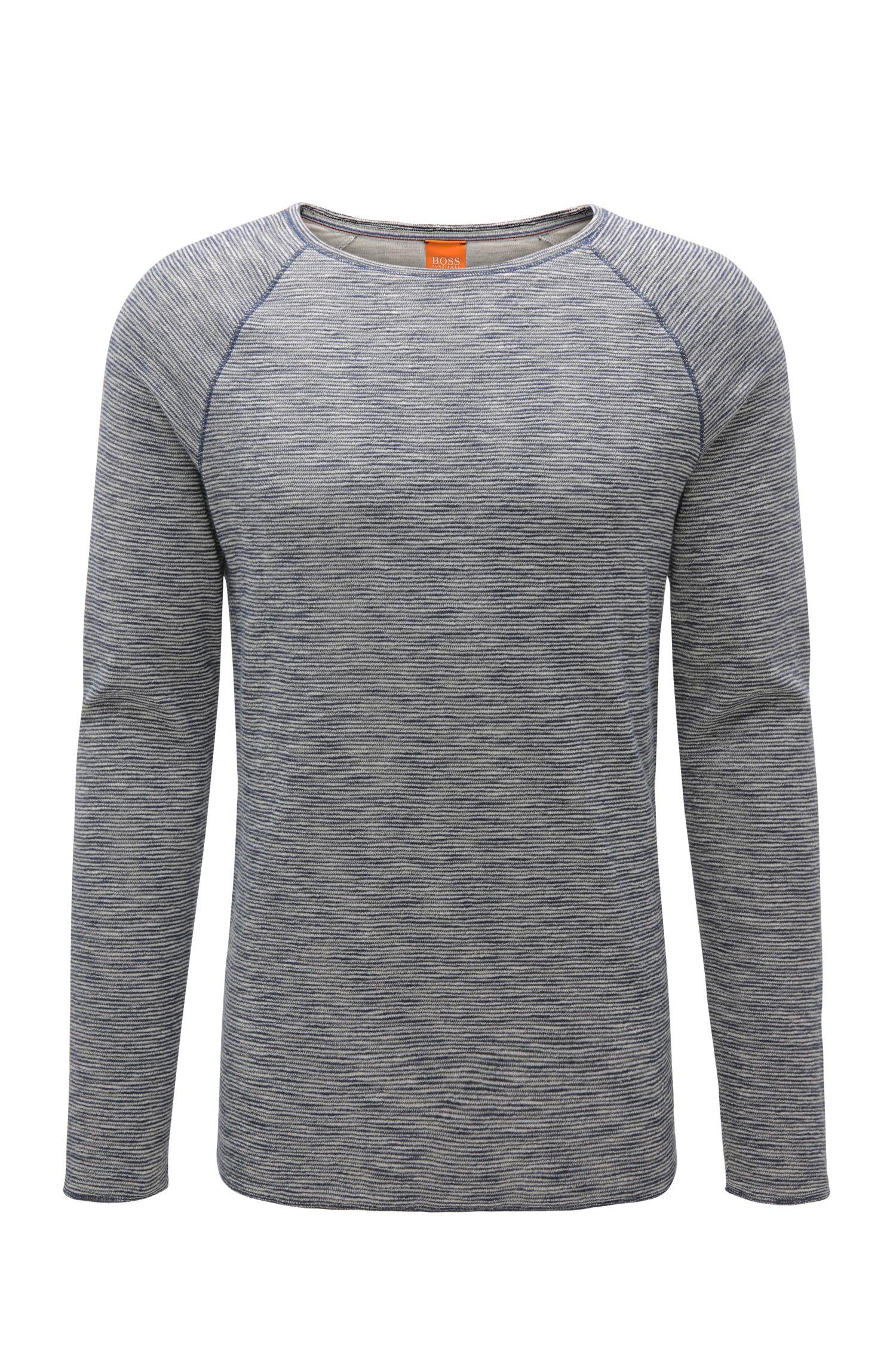 T-shirt à manches longues Regular Fit en tissu mélangé à teneur en coton: «Wakeme»