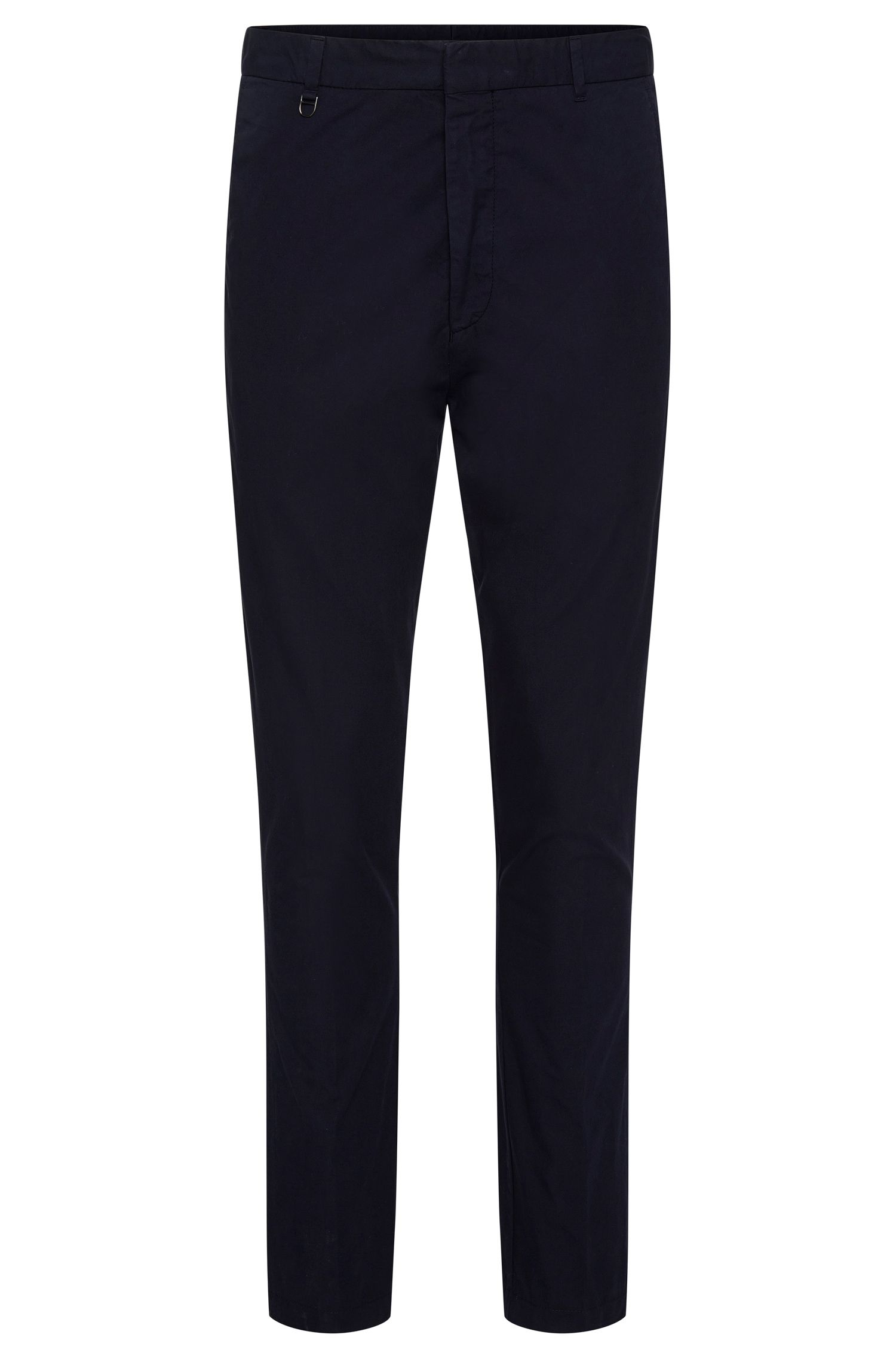 Plain slim-fit chinos in cotton: 'Hendris-D'