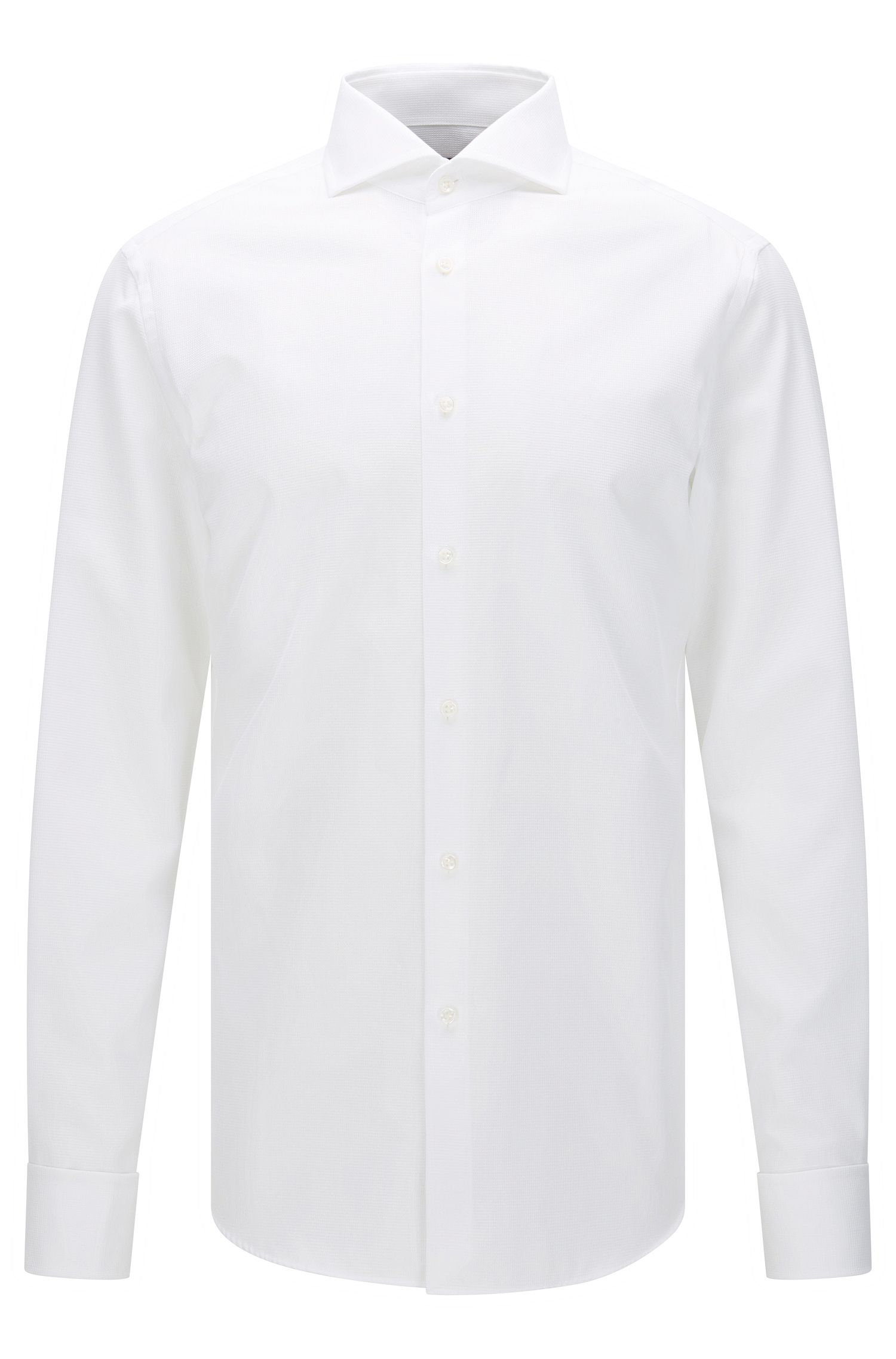 Slim-fit Tailored shirt in cotton with turn-back cuffs: 'T-Yacob'