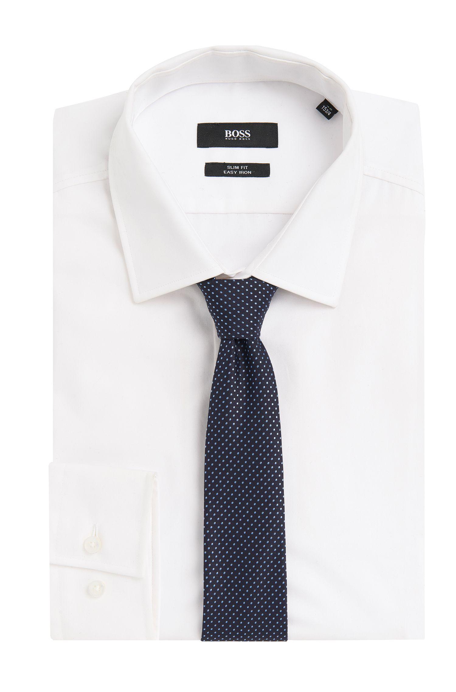 Cravate à pois Travel Line en soie imperméable: «Tie 6cm traveller»