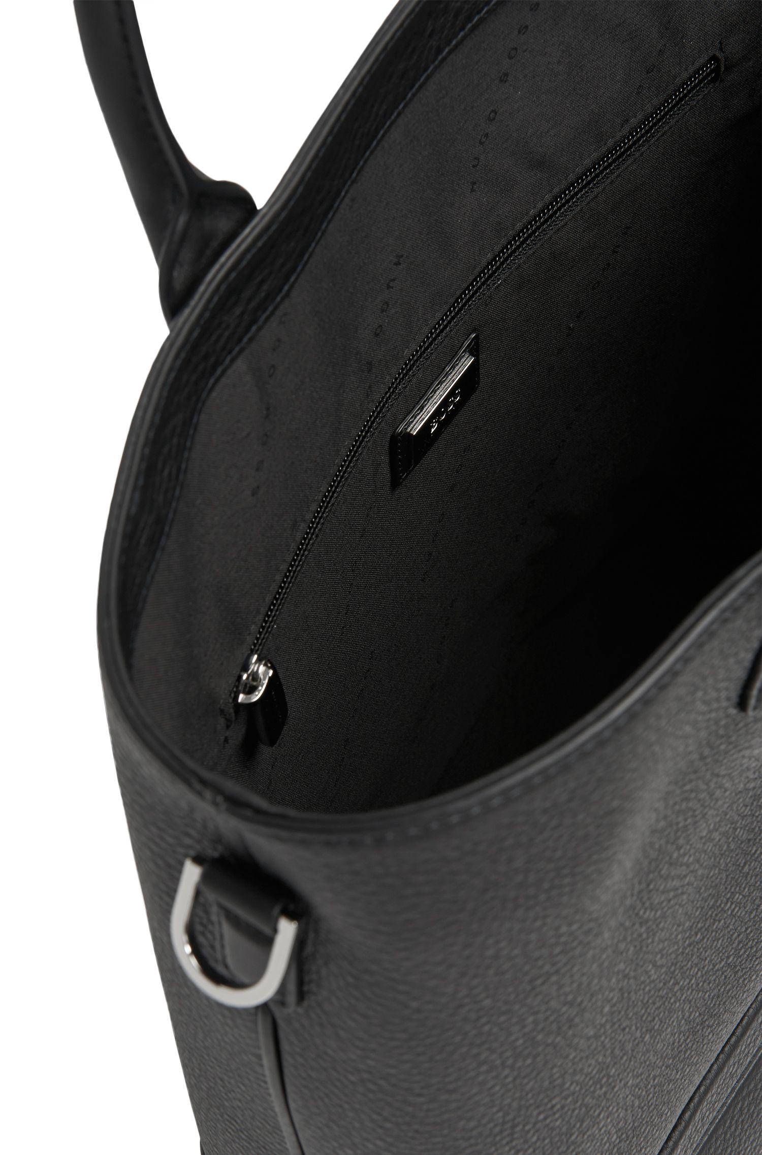 Shopper aus fein gemasertem Leder: 'Traveller_Tote open'