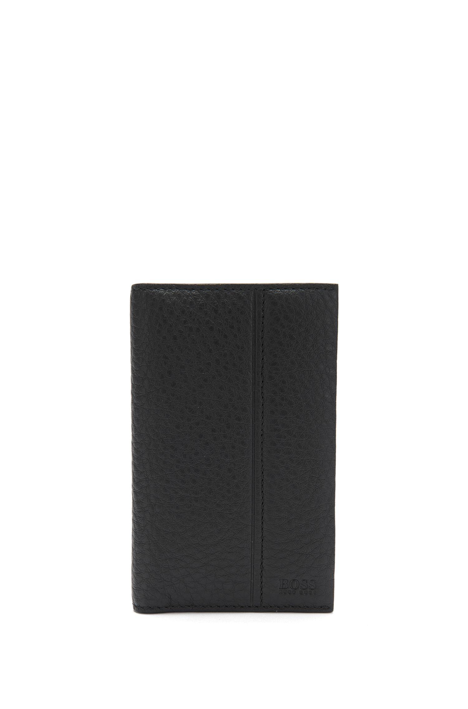 Großformatiges Kartenetui aus genarbtem Leder: 'Traveller_12 cc'