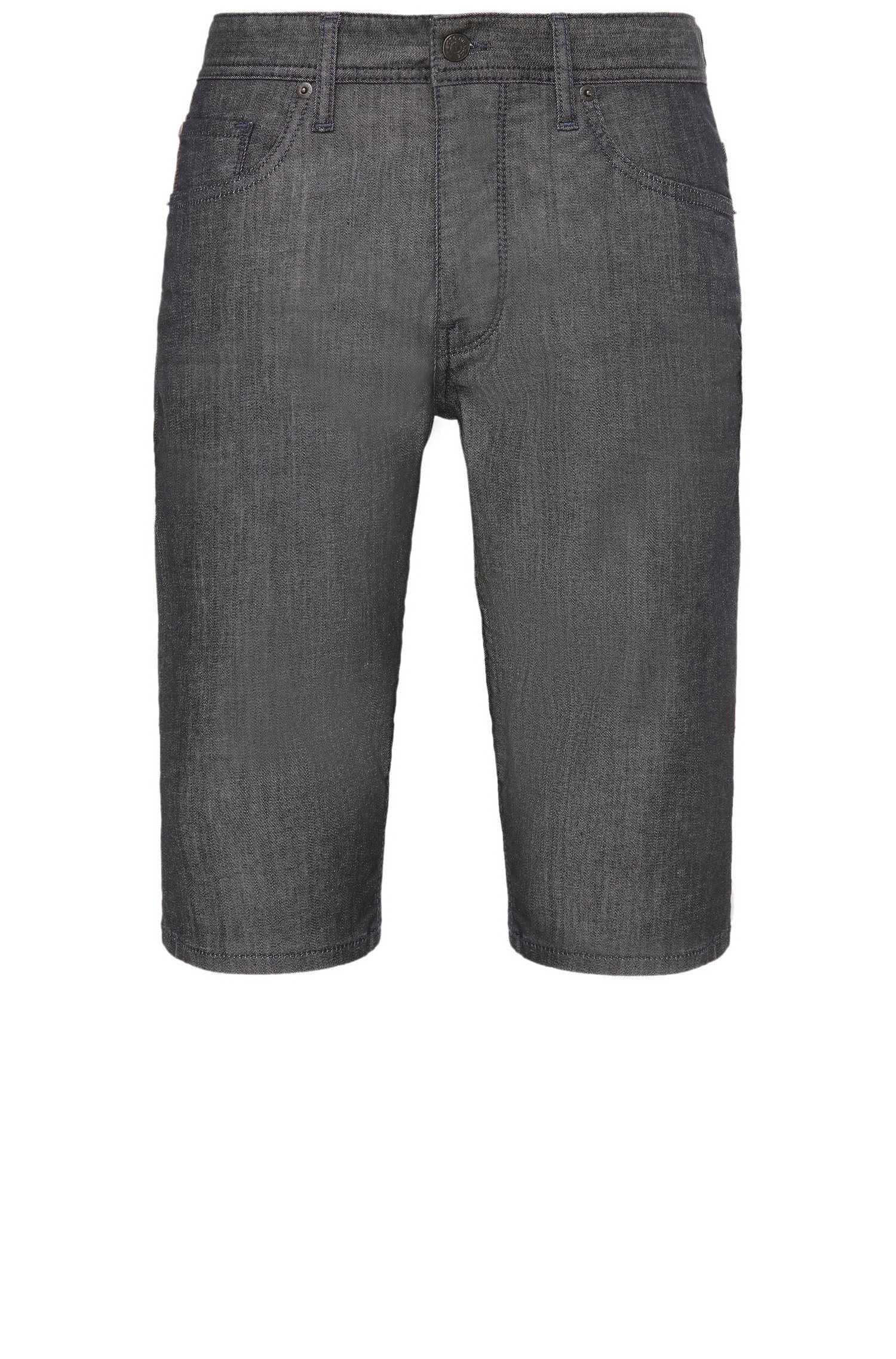 Shorts tapered fit en mezcla de algodón elástico: 'Orange90 Short'