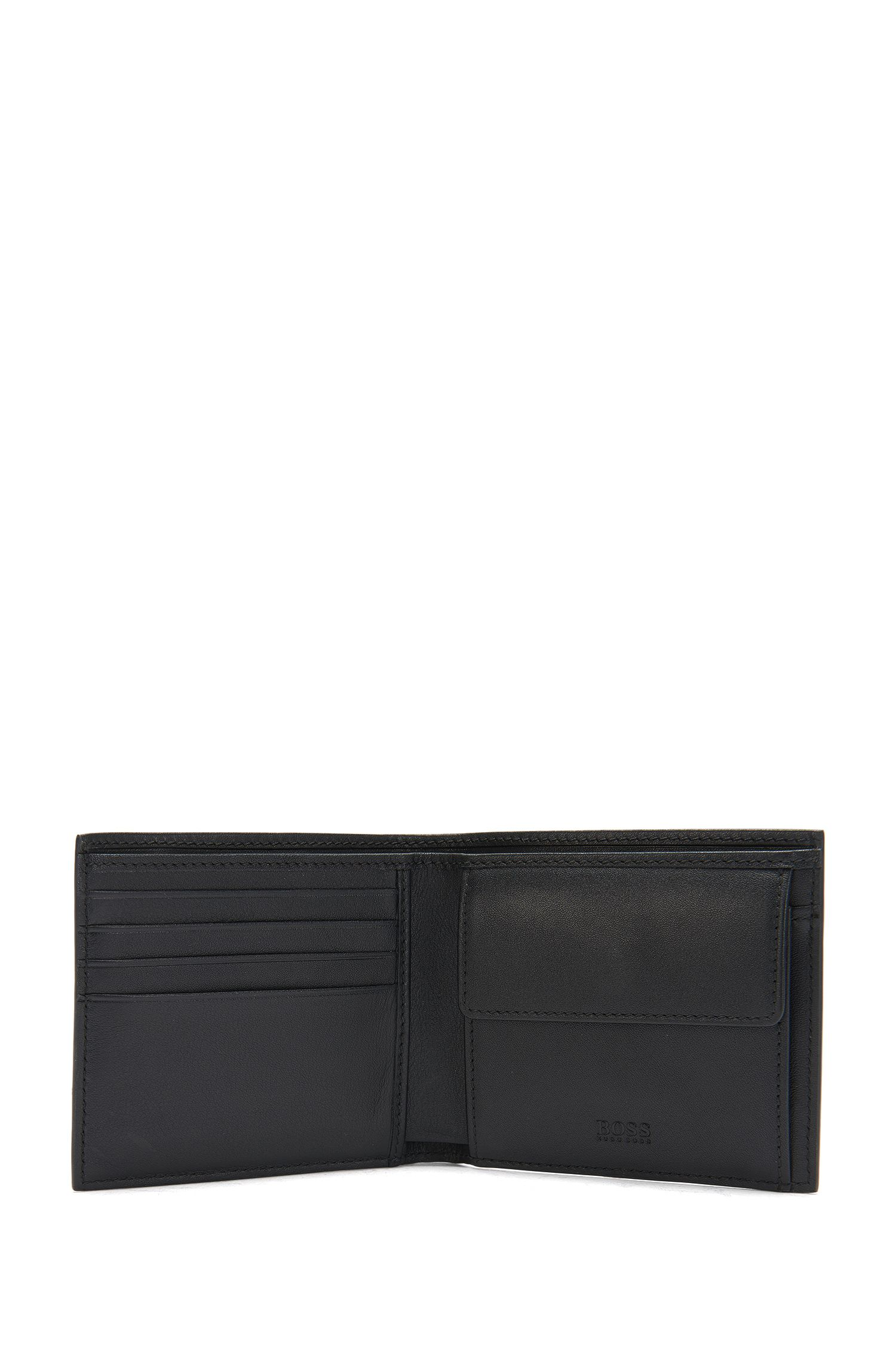Wallet in leather with coin compartment: 'Ruben_4 cc coin'