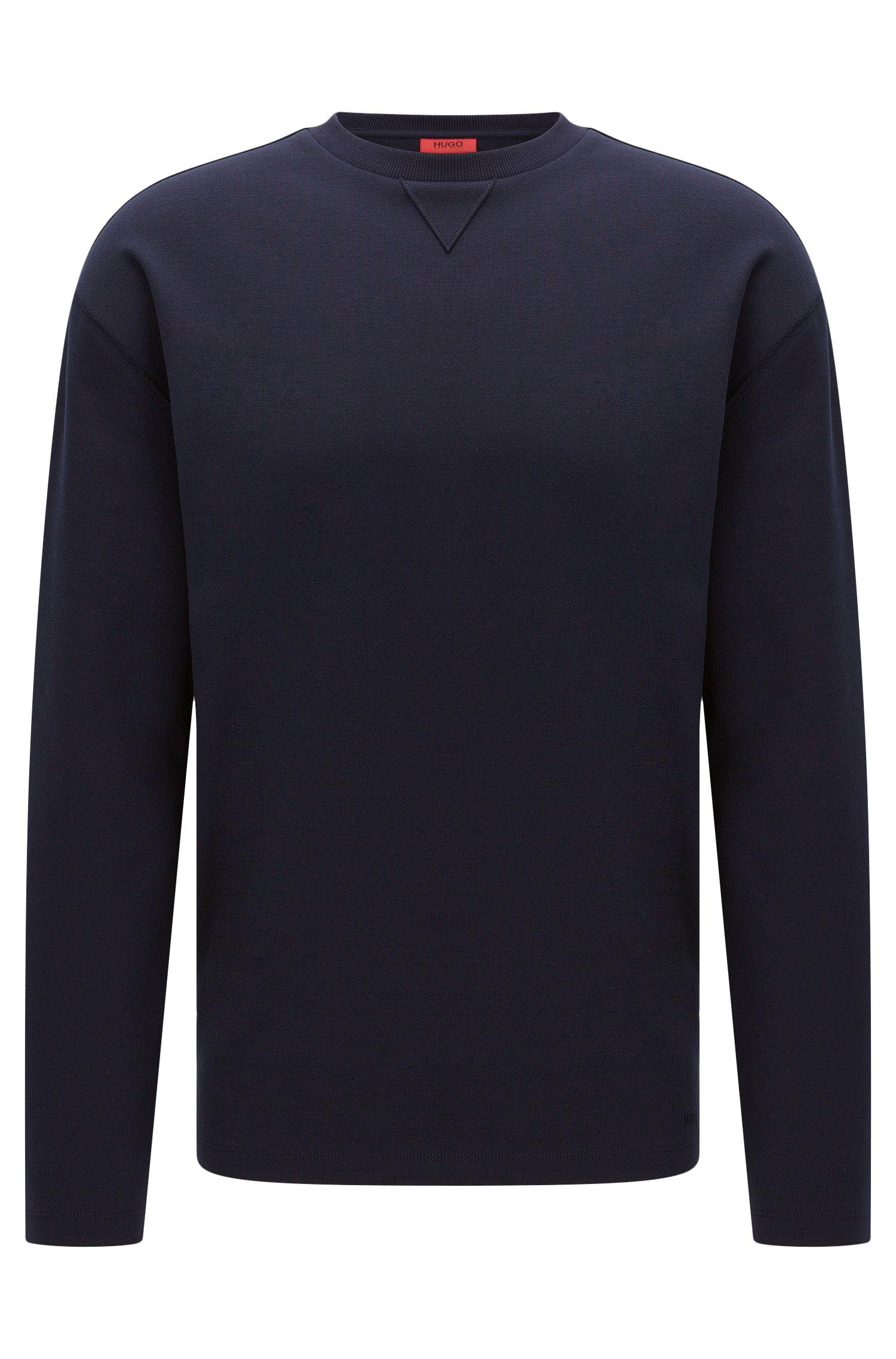 Oversized-fit sweatshirt van katoen met open zomen: 'Dellison'
