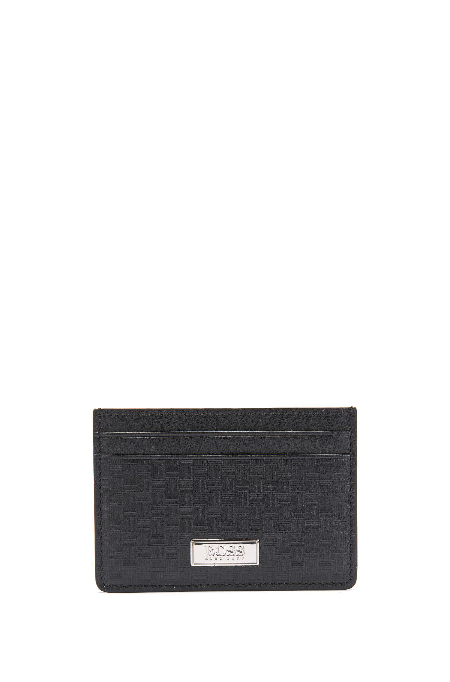 Portemonnee en pasjeshouder van gestructureerd leer: 'GbB17SR_8cc S card'