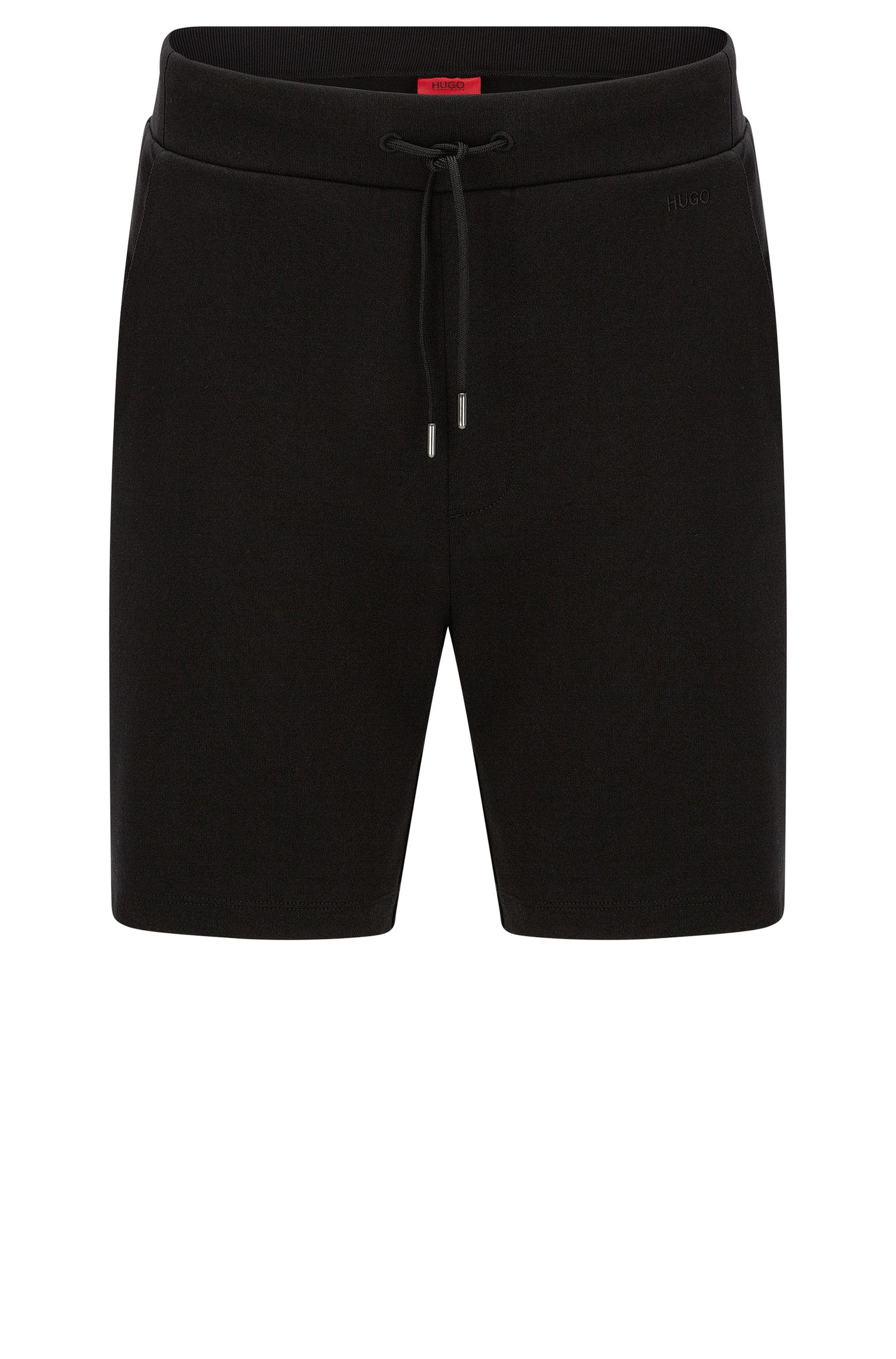 Regular-fit sweat shorts in cotton with drawstring waistband: 'Dibbons'