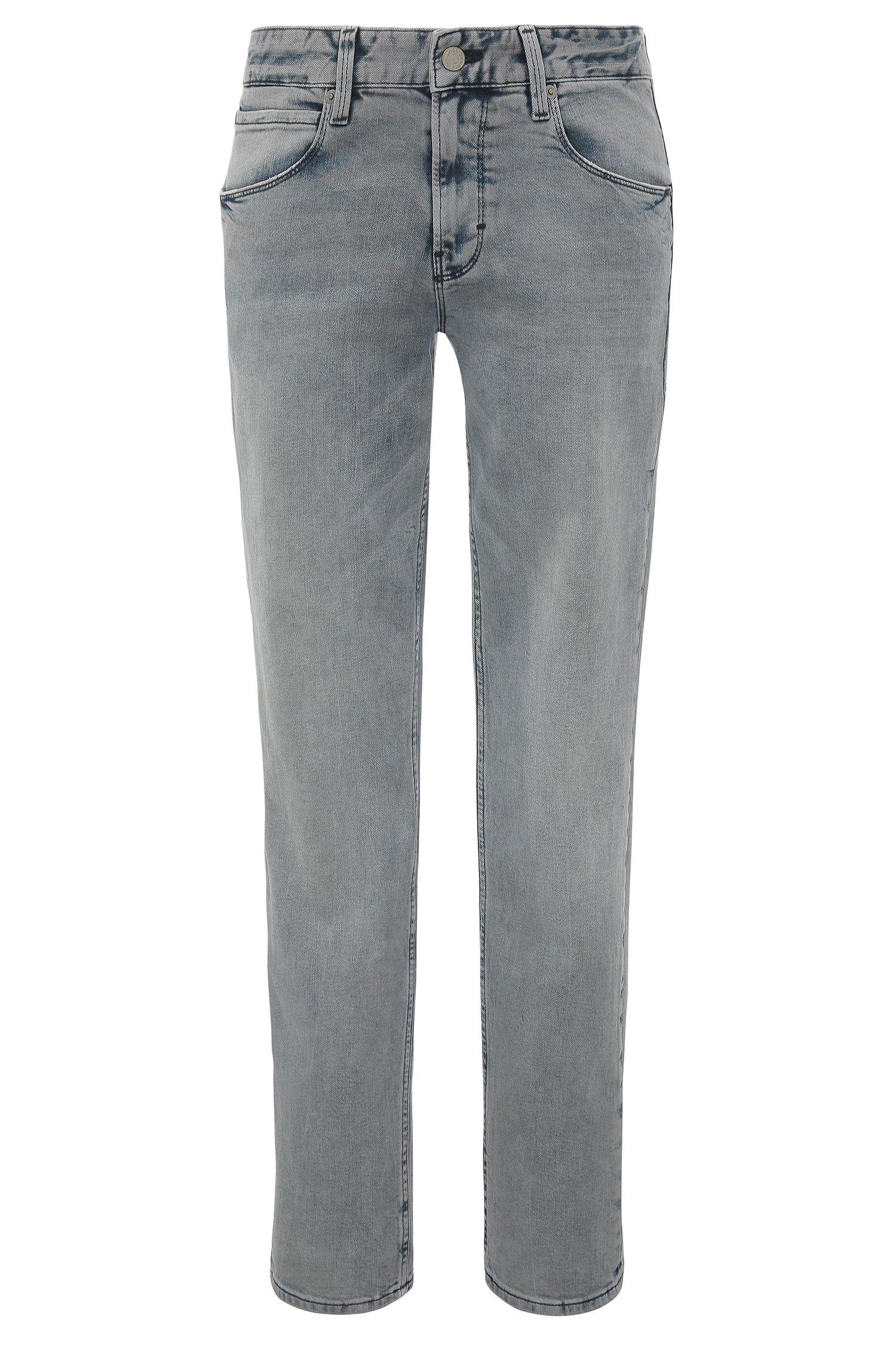 Slim-Fit Jeans aus Stretch-Baumwolle im Bleach Look: ´Orange63`
