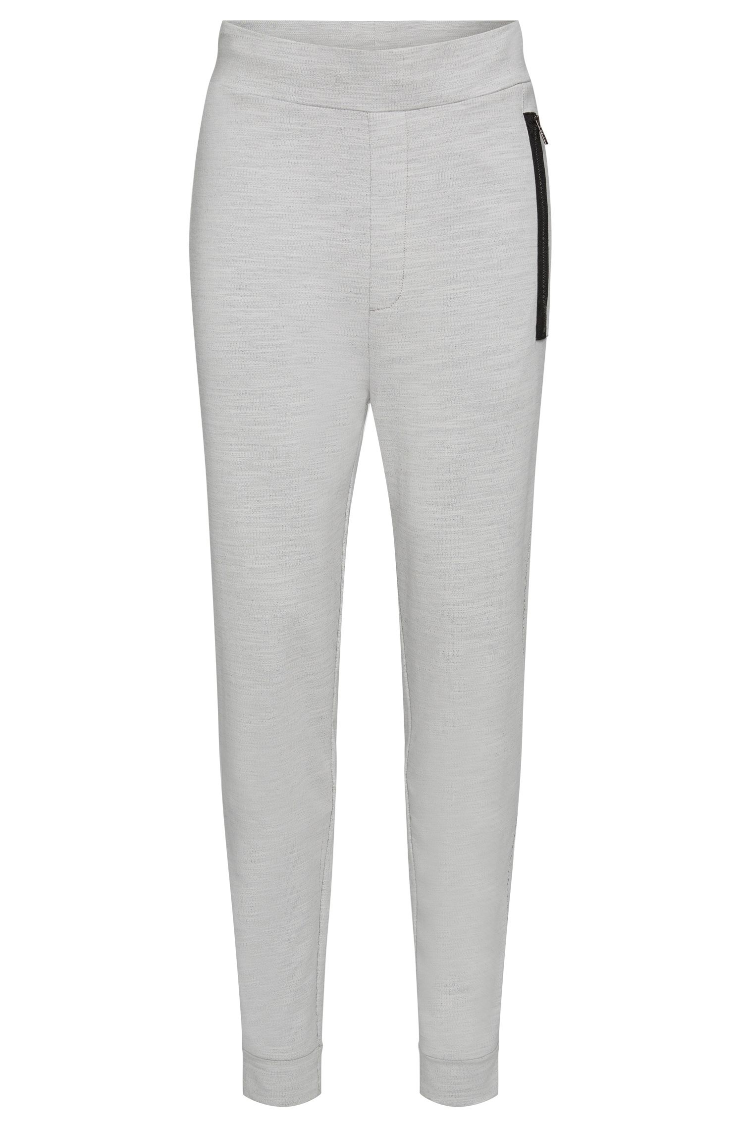 Pantalon sweat chiné en coton stretch : « Dalviso »