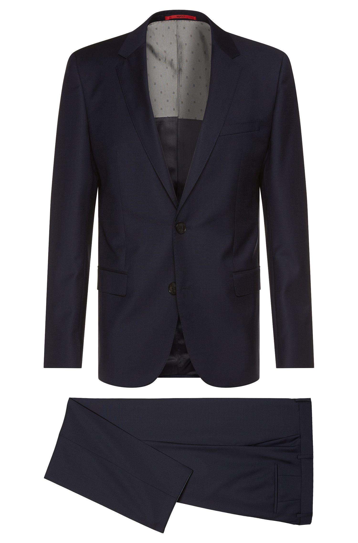 Slim-fit suit in finely textured new wool: 'C-Huge1/C-Genius'