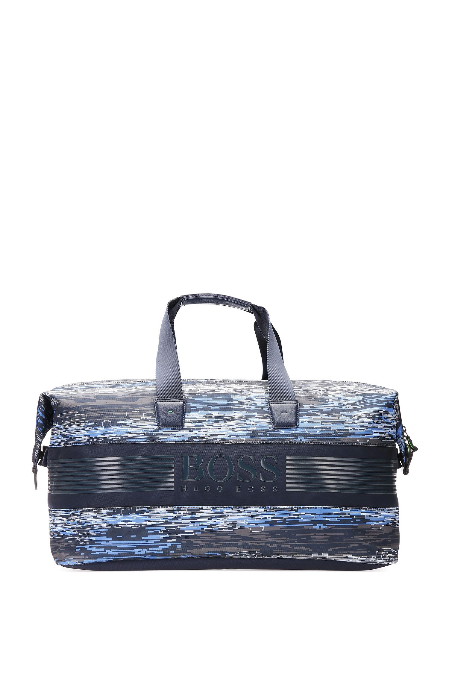Patterned holdall in nylon: 'Pixel C_Holdall'