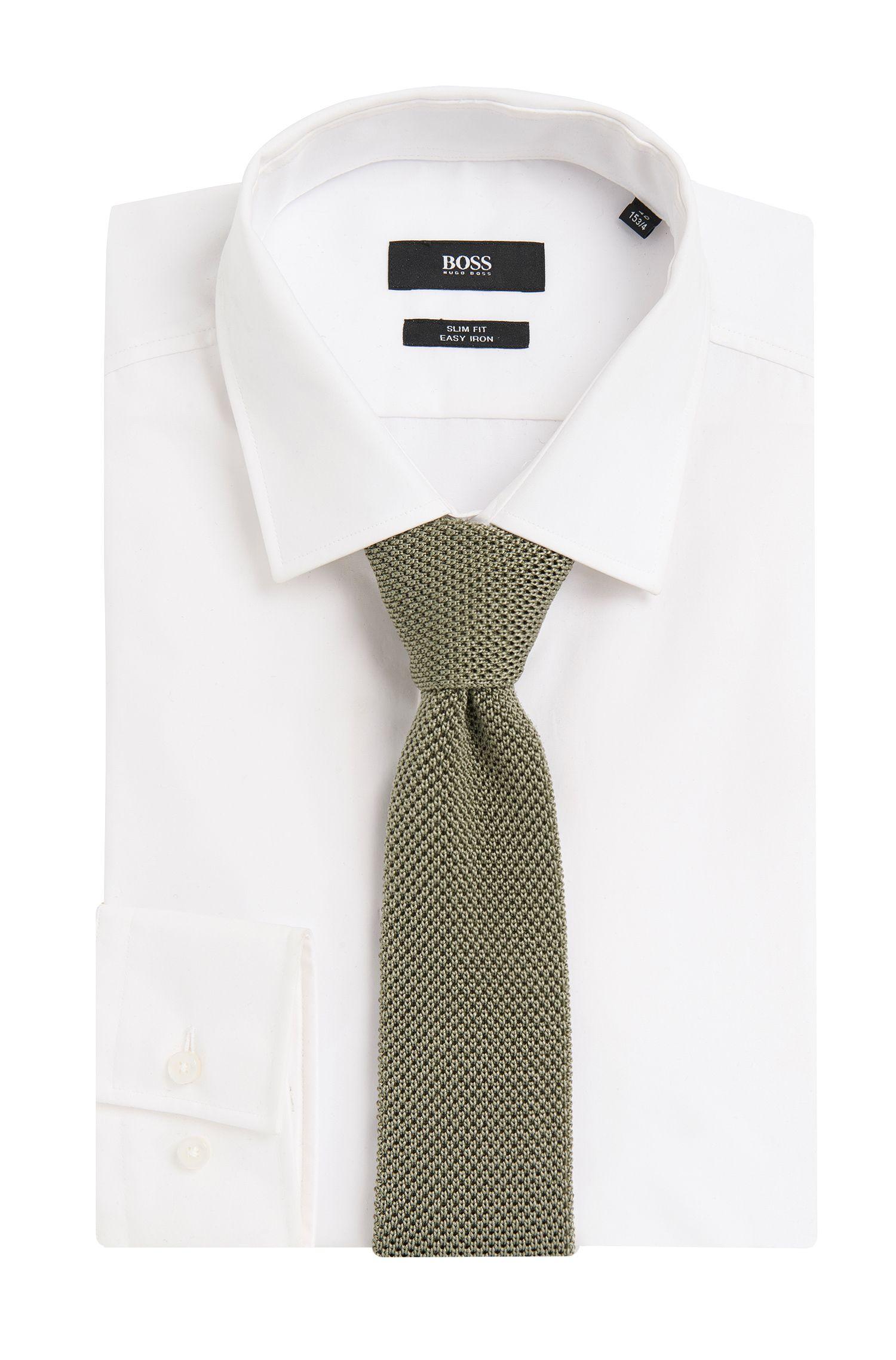 Tailored Strickkrawatte aus Seide: 'T-Tie 6 cm knitted'