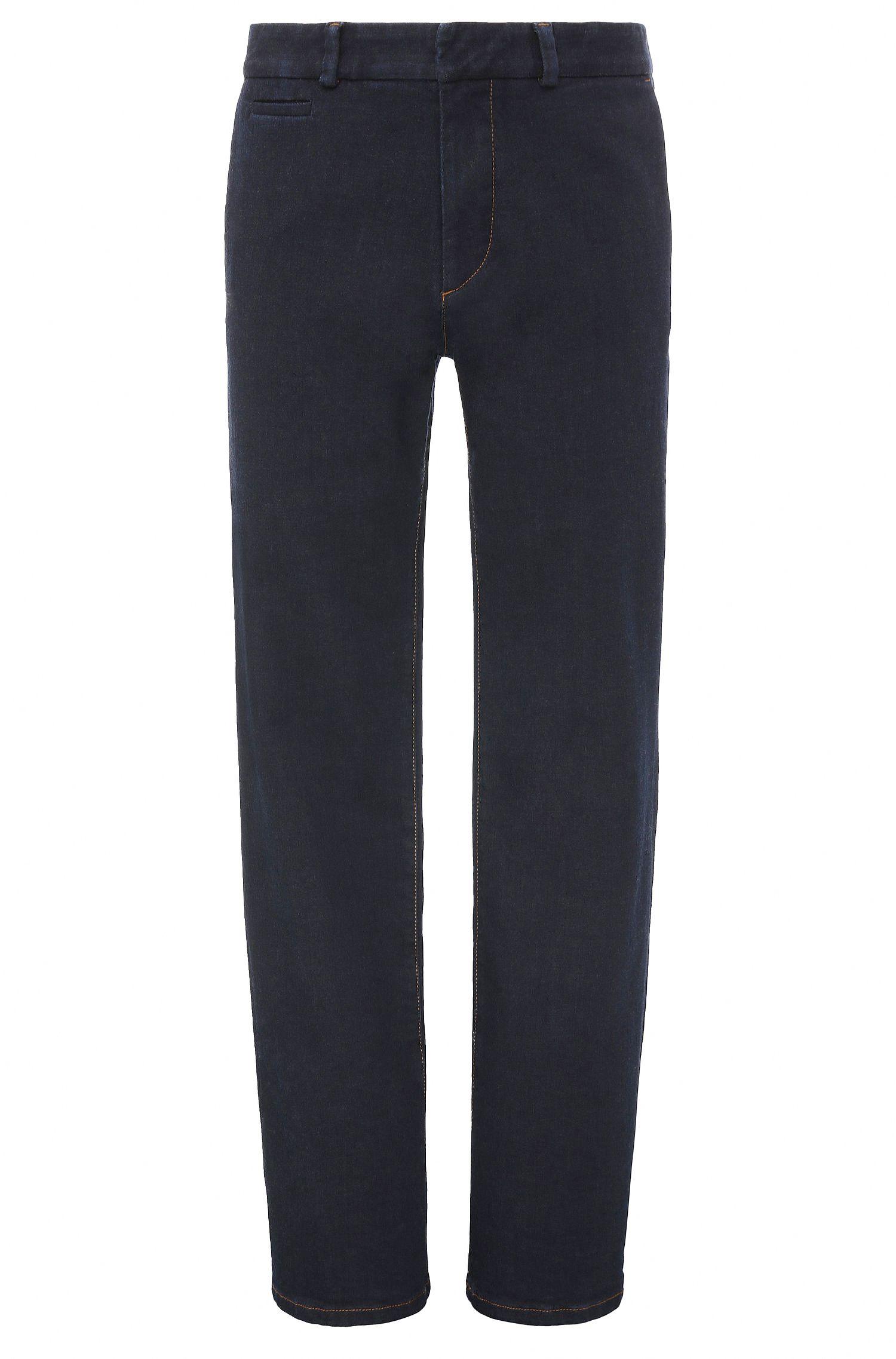Regular-Fit Jeans aus elastischem Baumwoll-Mix mit ausgestellten Beinenden: ´Orange80`