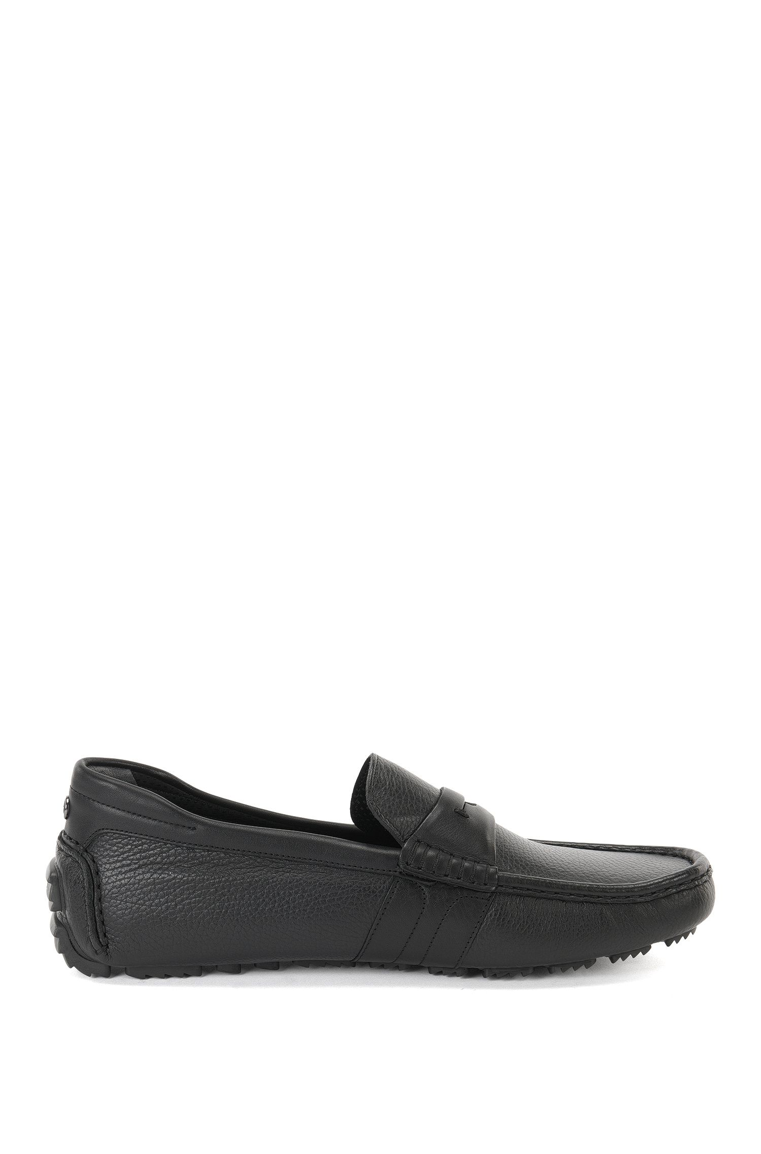 Leather moccasins in a mixture of textures: 'Driver_mocc_gr' from the Mercedes-Benz Collection