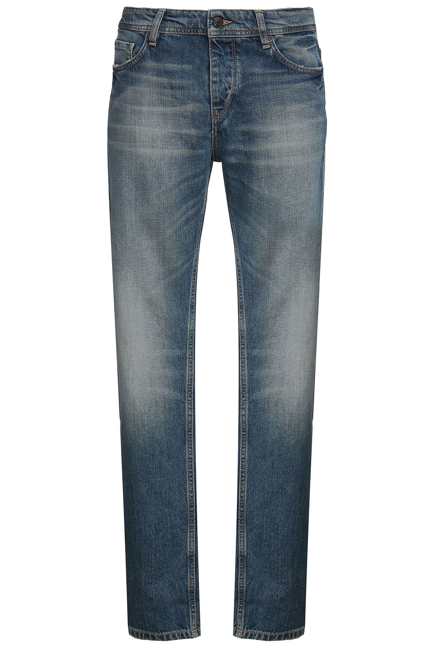 Jeans Tapered Fit en coton mélangé: «Orange90»